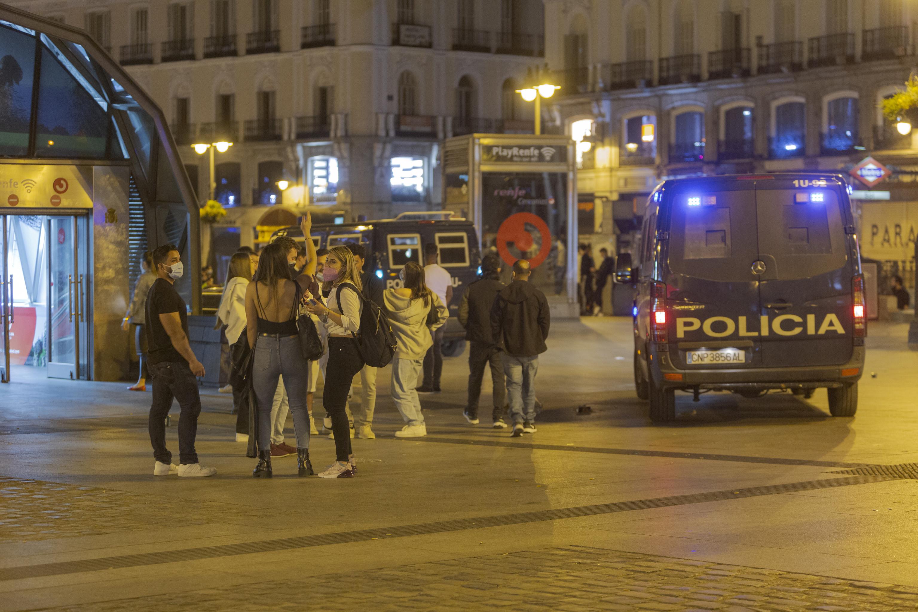 Botellón en Madrid.