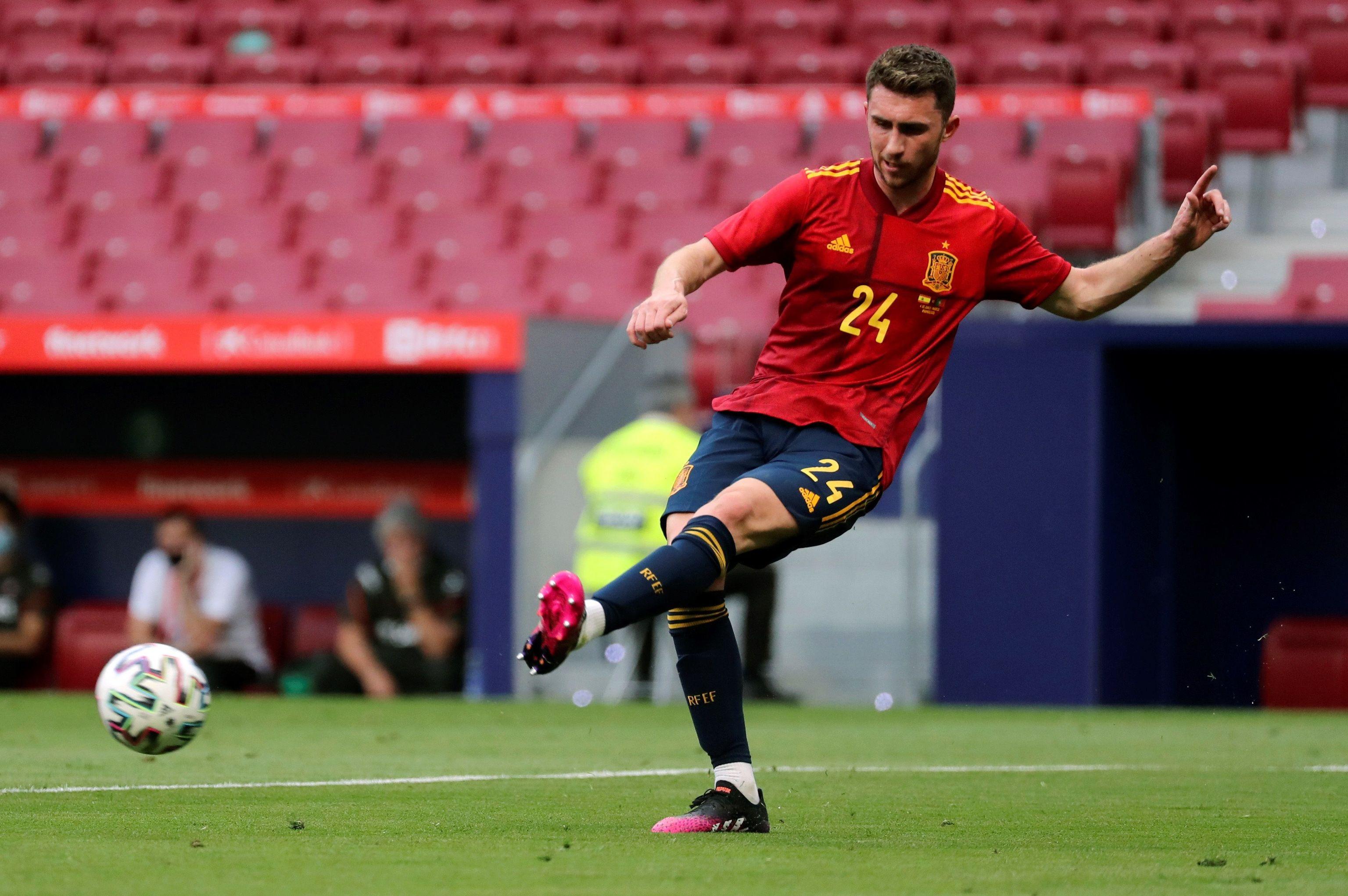 Aymeric Laporte, en el partido contra Portugal.