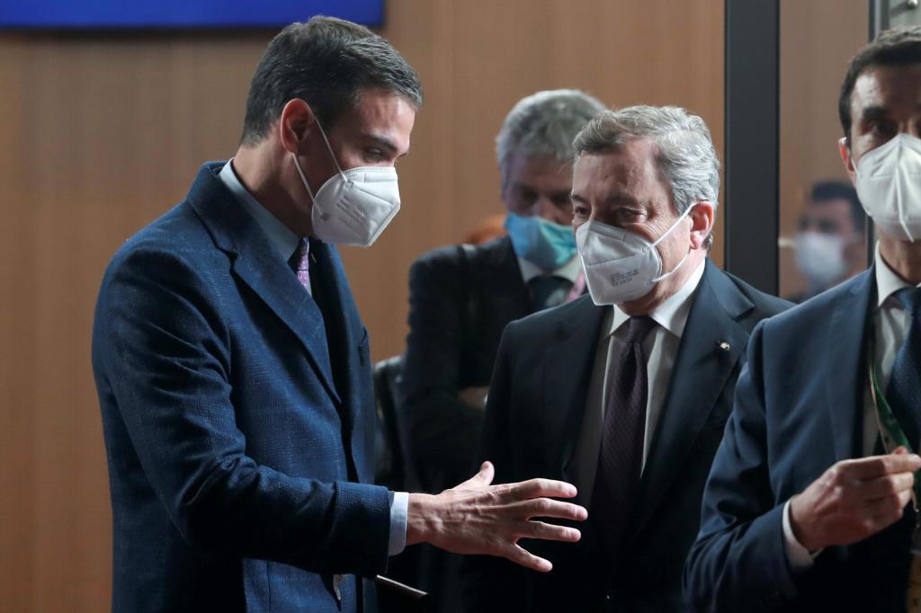 Los presidentes español e italiano
