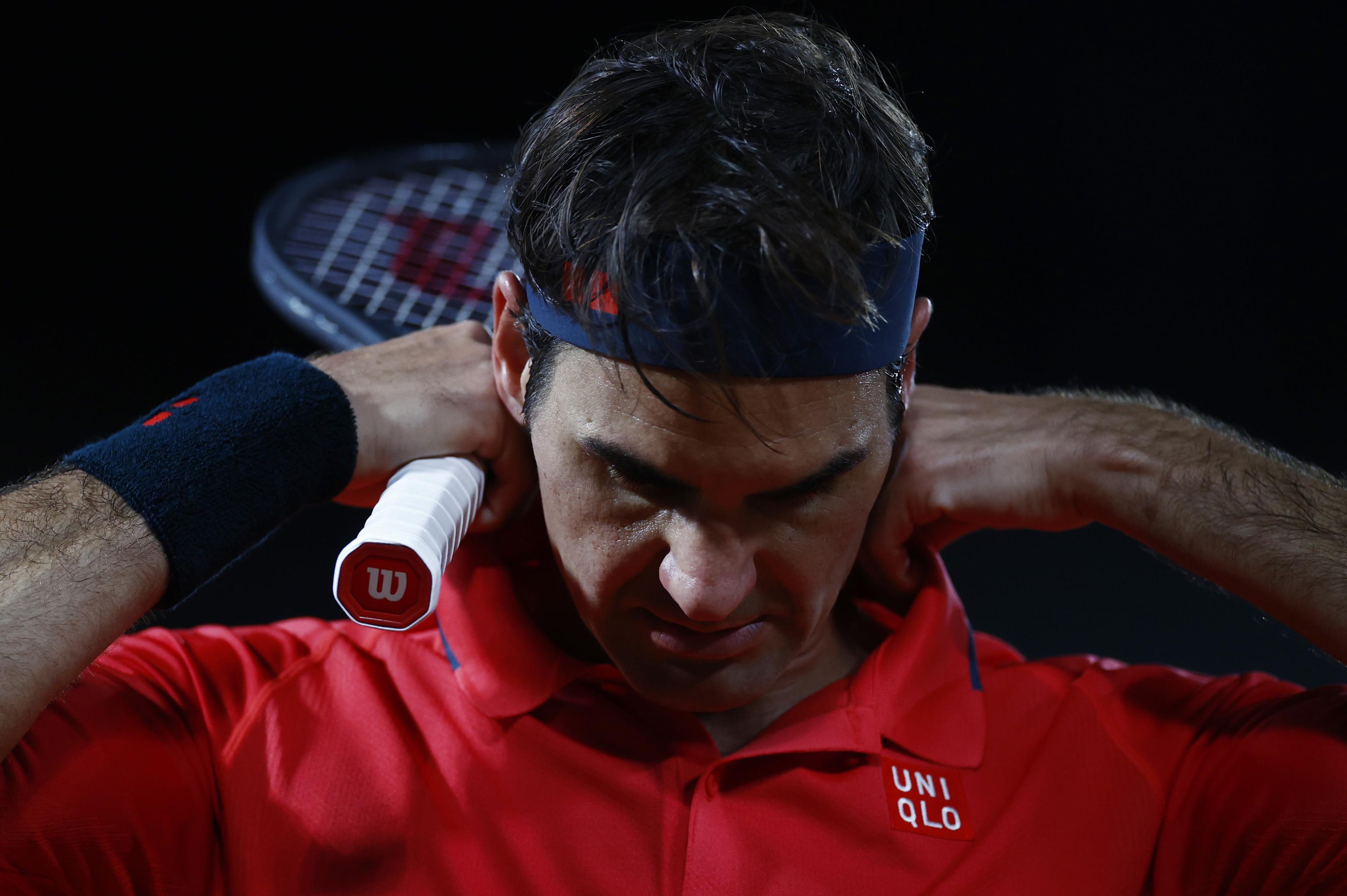 Roger Federer, durante un partido en París.
