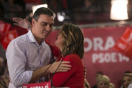 Pedro Sánchez y Susana Díaz, juntos en una imagen de archivo en la campaña electoral de 2019.