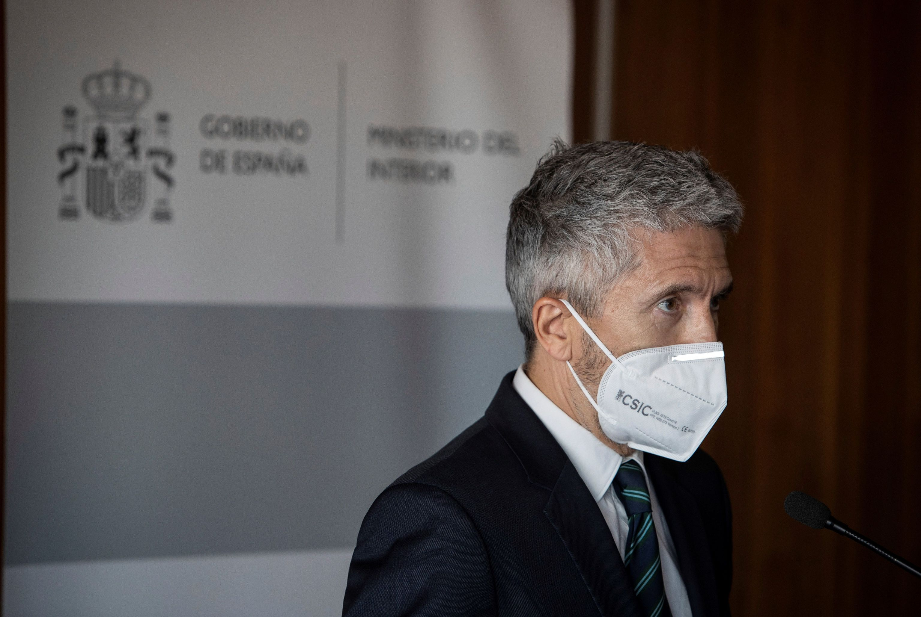 Fernando Grande-Marlaska, la pasada semana en Cádiz.