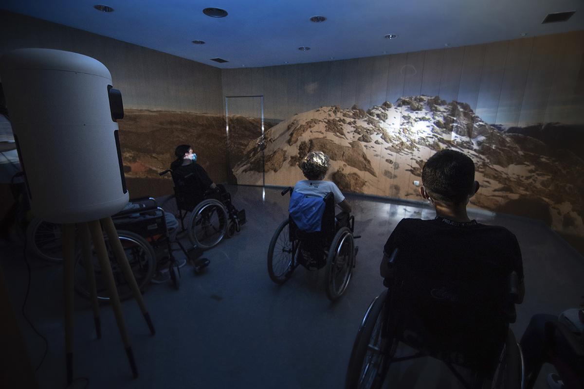Allí arriba en silla de ruedas o cómo la realidad virtual te sube a los Pirineos