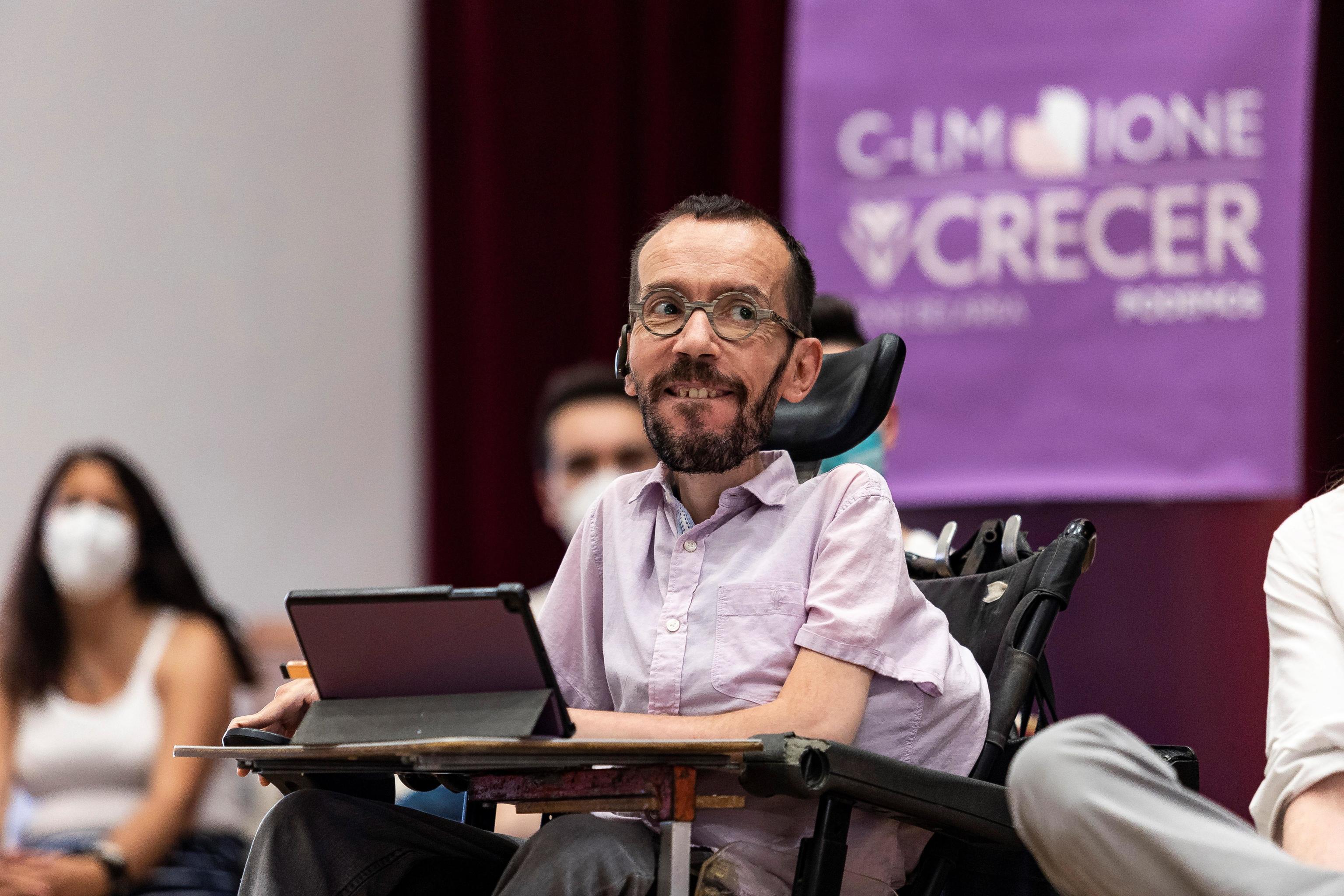 Pablo Echenique durante un acto de Ione Belarra en Toledo.