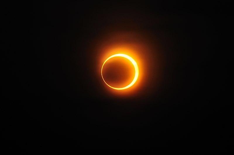 Eclipse solar anular observado desde Jinan, China, el 15 de enero de 2010