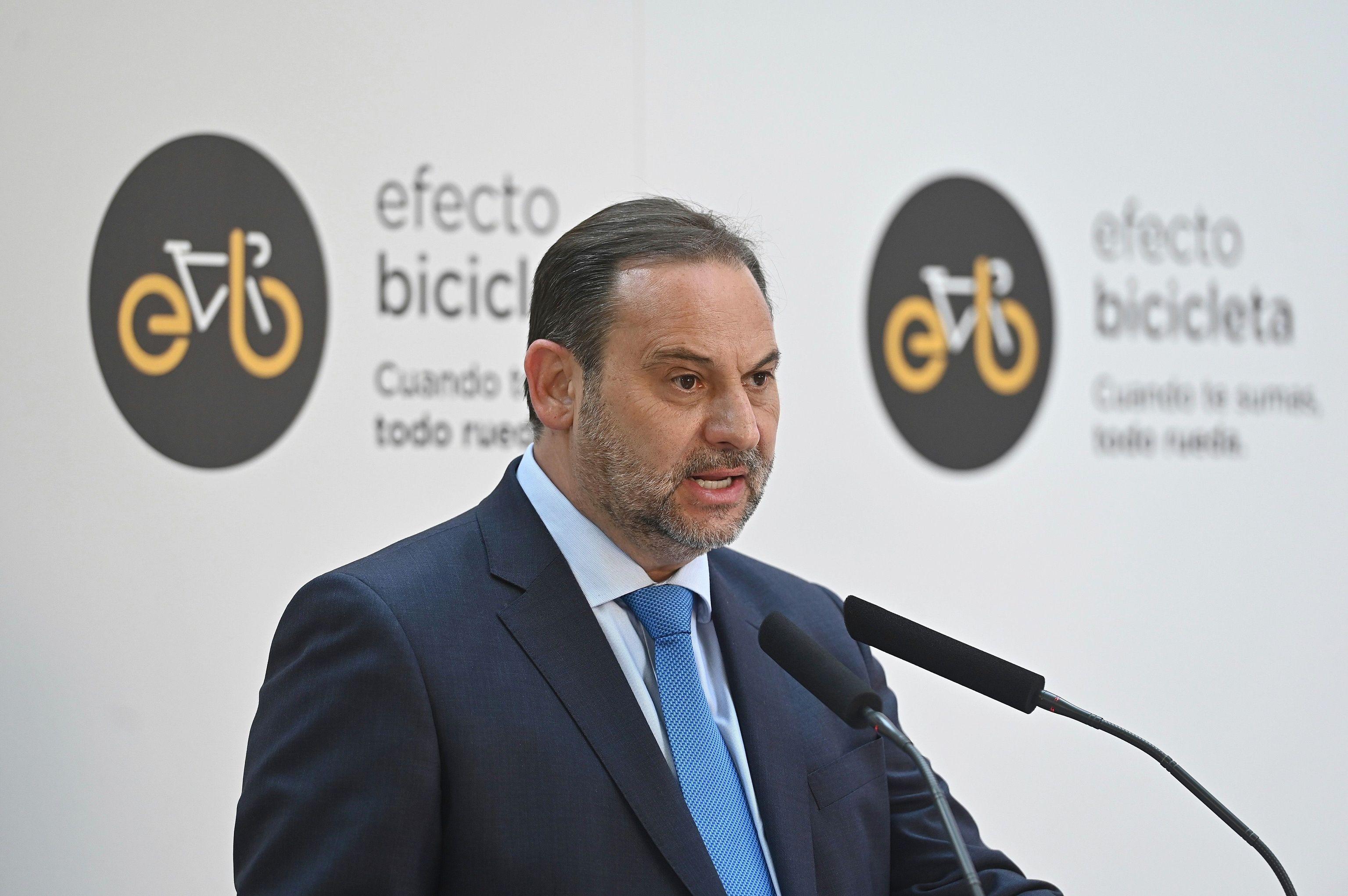 José Luis Ábalos interviene durante la presentación de la Estrategia.