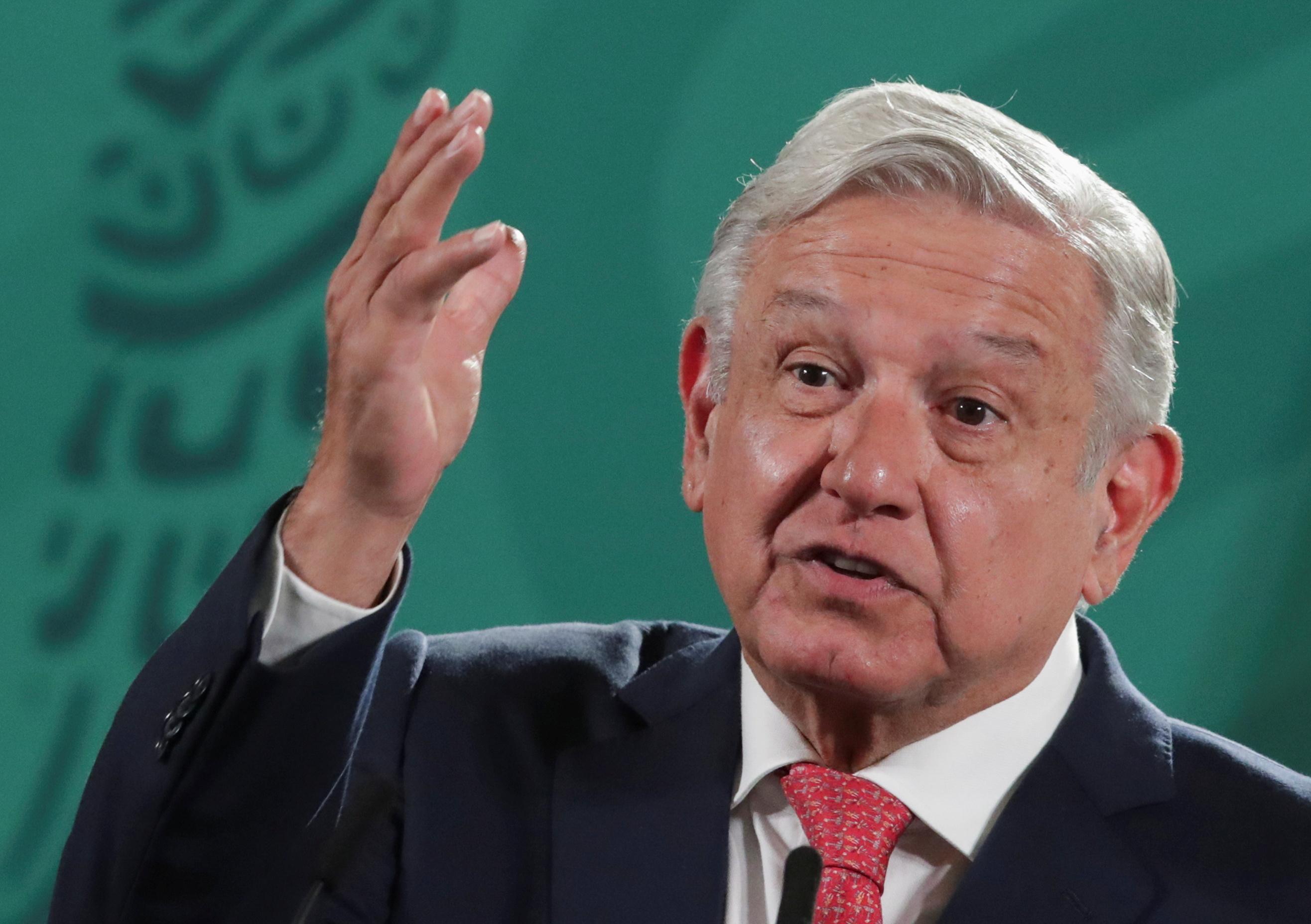 El presidente mexicano Andres Manuel López Obrador.
