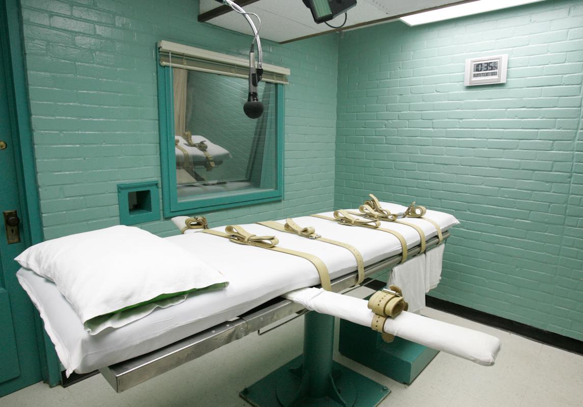 Una camilla en Huntsville, Texas, donde los condenados reciben la dosis letal.