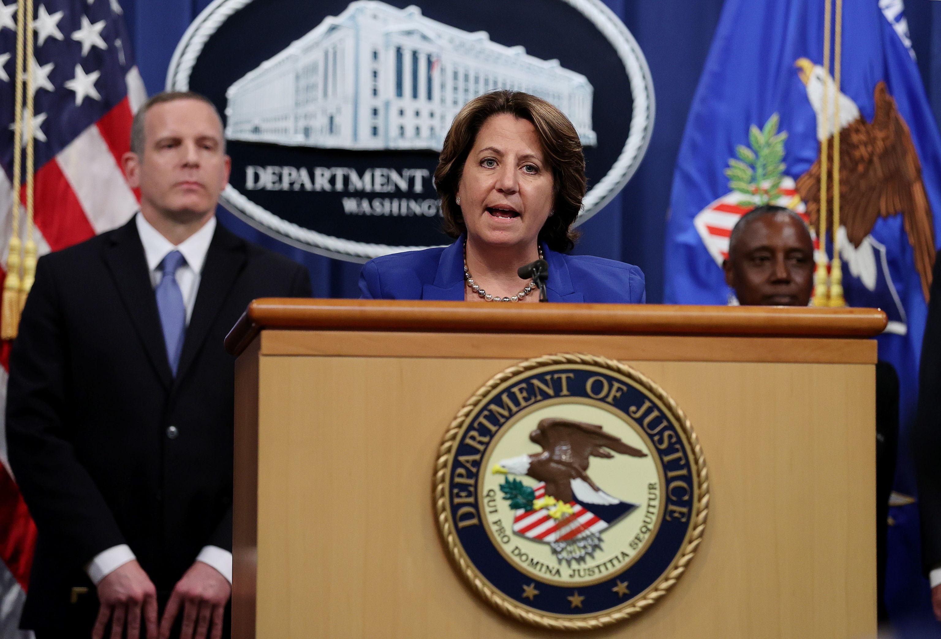 La fiscal estadounidense, Lisa Monaco, durante el anuncio de la operación.