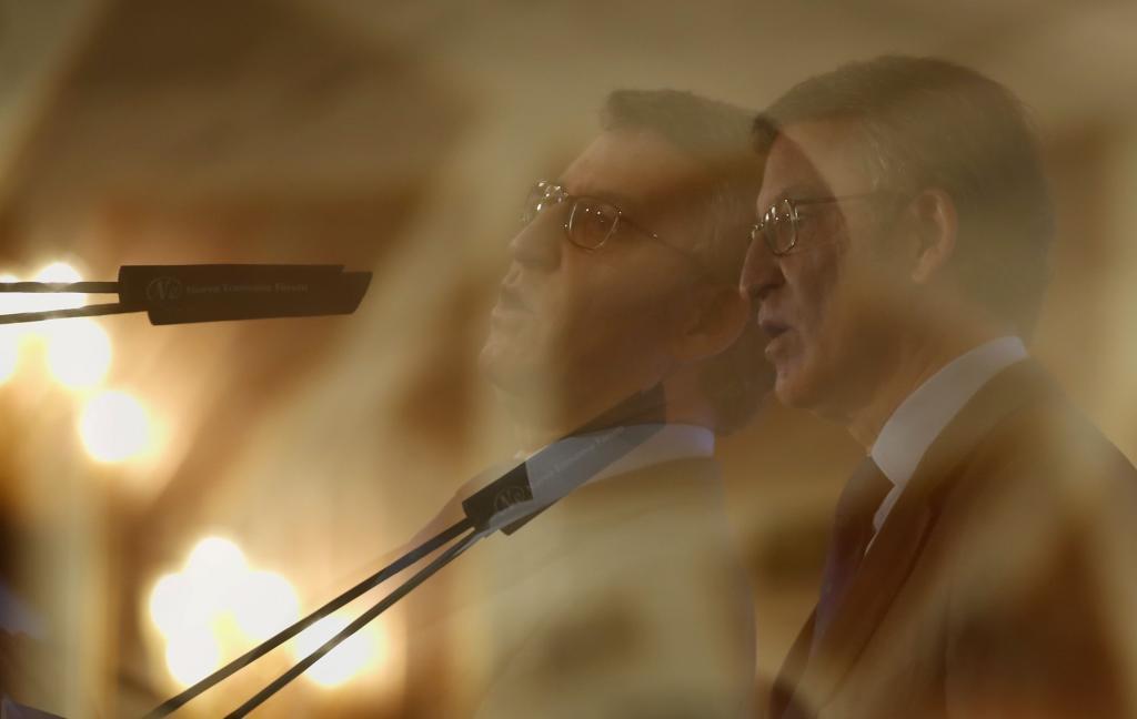 Alberto Núñez Feijóo, durante su intervención en un desayuno informativo en Madrid.