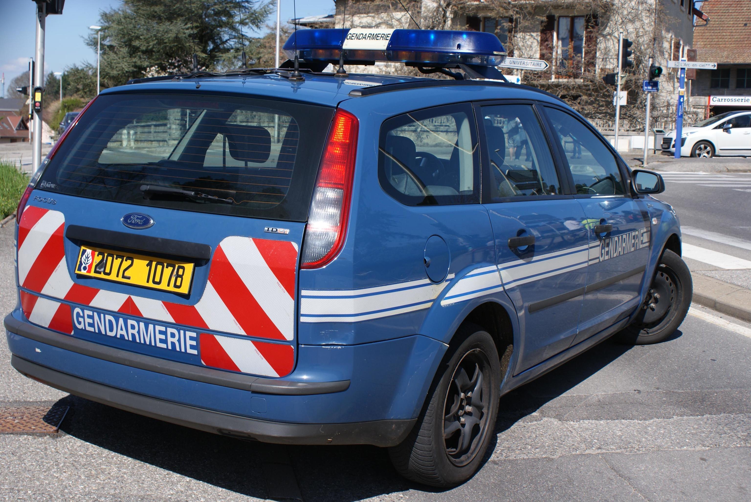 Un coche de la Gendarmería francesa.