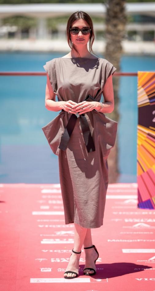 Paz Vega con vestido de IQ Collection en Málaga