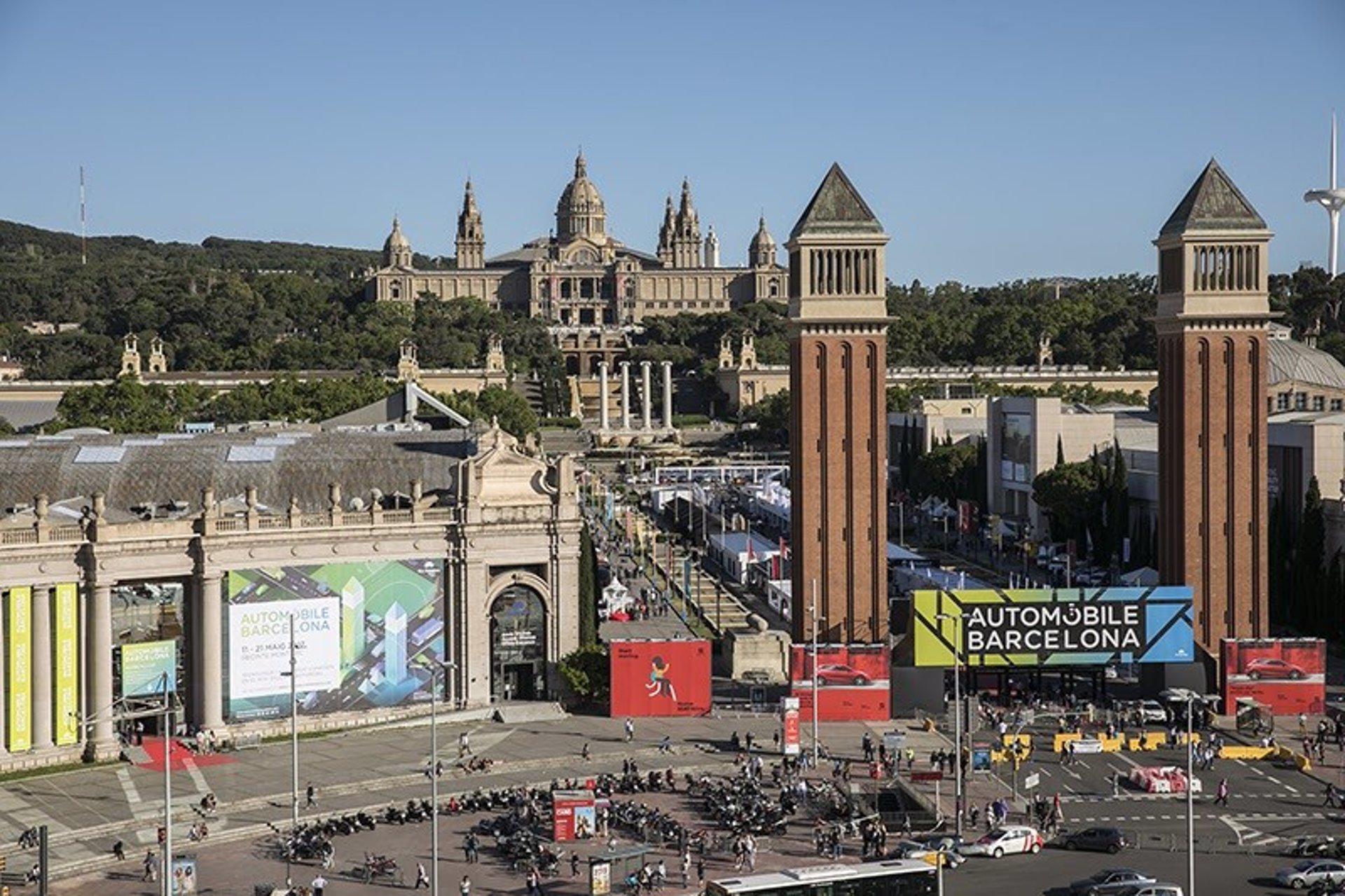 Salón Automobile en el recinto de Fira de Barcelona.