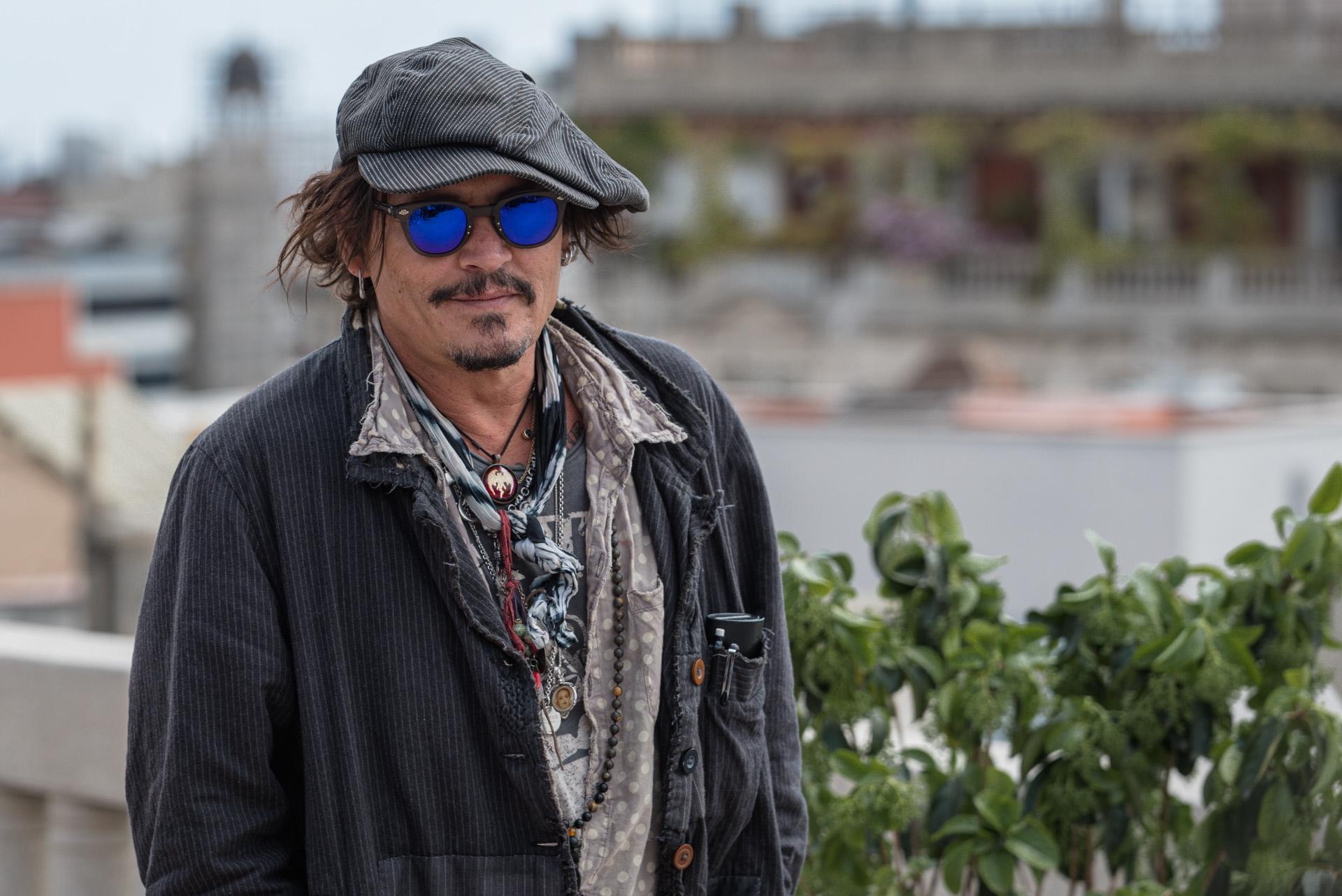 Johhny Depp, durante la presentación de su última película, 'El fotógrafo de Minamata', en abril en Barcelona.