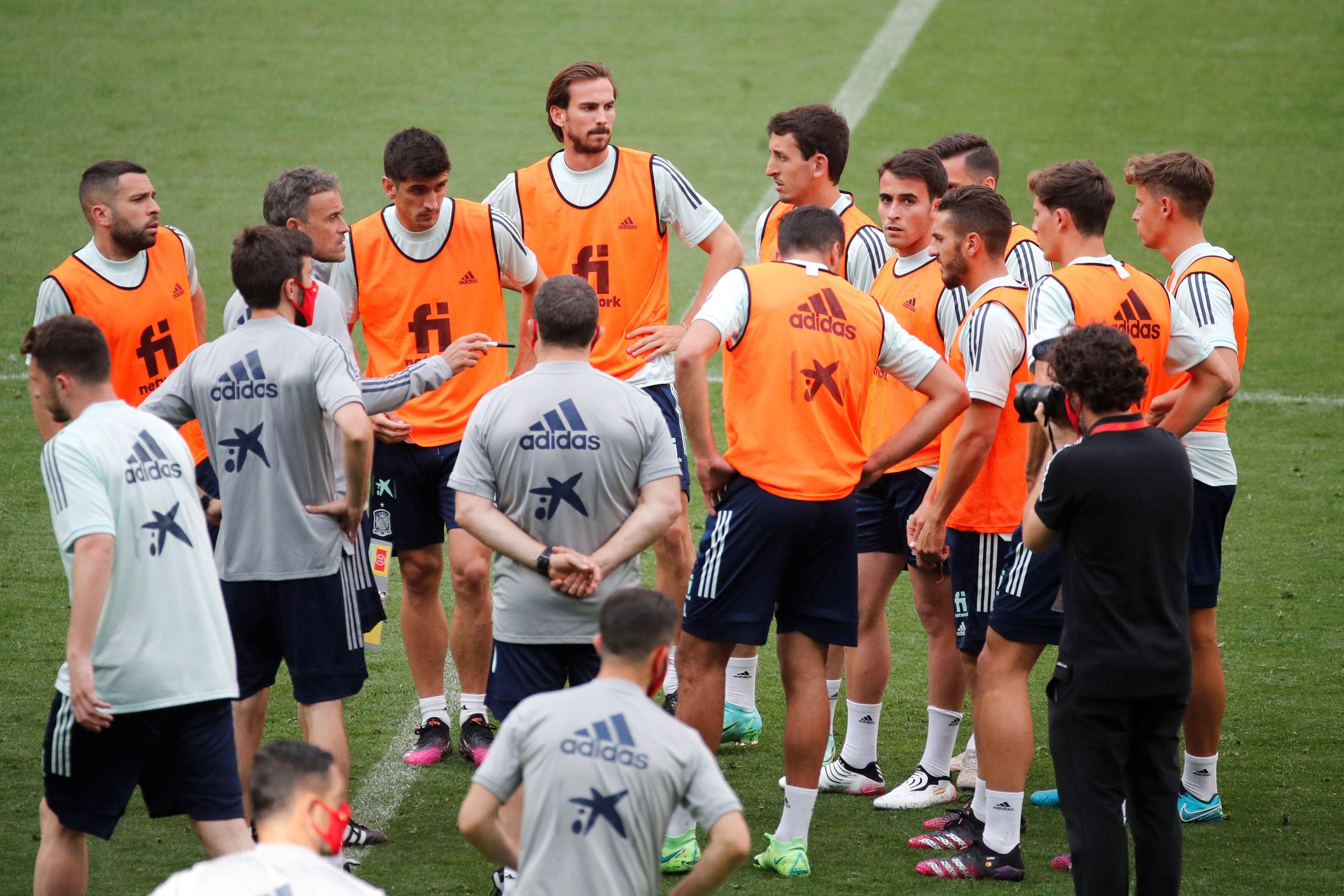 La selección española, en Las Rozas.