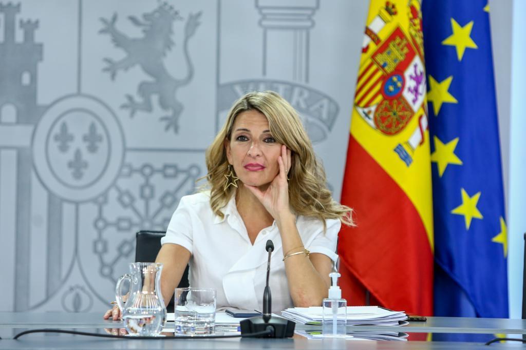 La vicepresidenta del Gobierno y ministra de Hacienda, Yolanda Díaz.