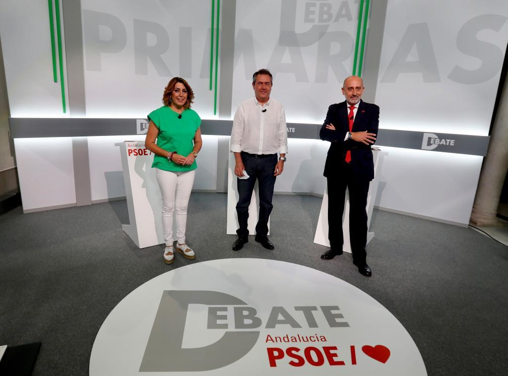 Debate primarias: Juan Espadas reprocha a Susana Díaz haber perdido medio millón de votos