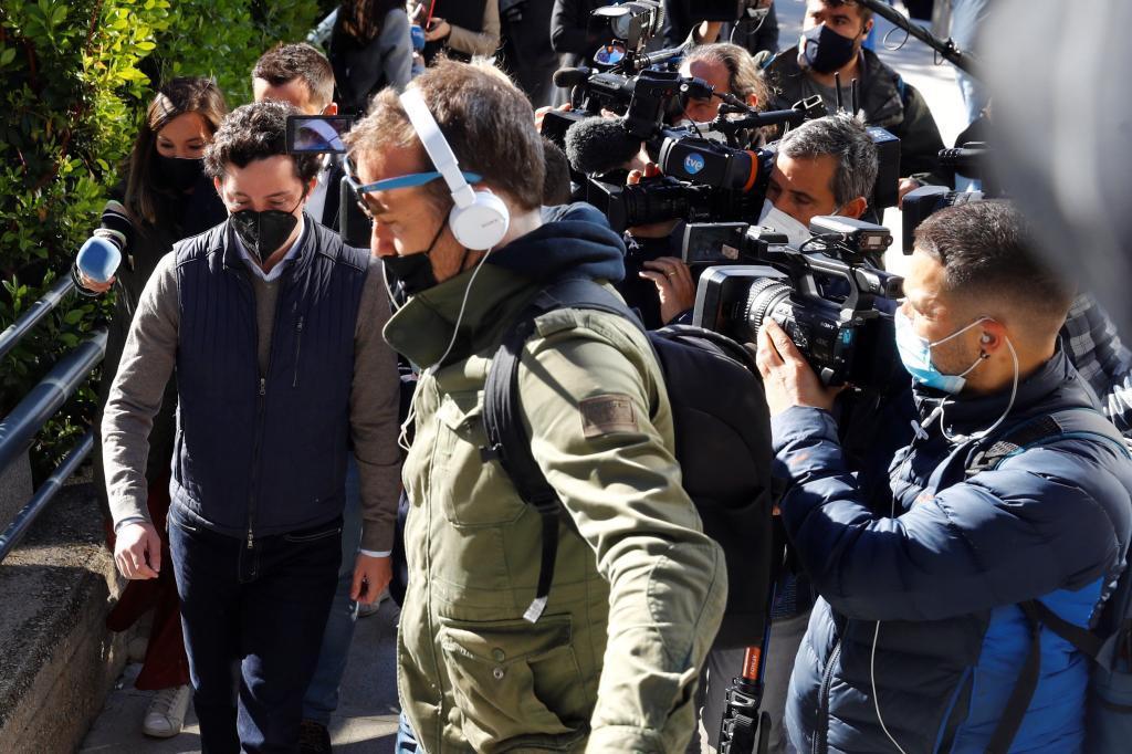 Francisco Nicolás Gómez Iglesias, a su llegada a la Audiencia Provincial de Madrid.