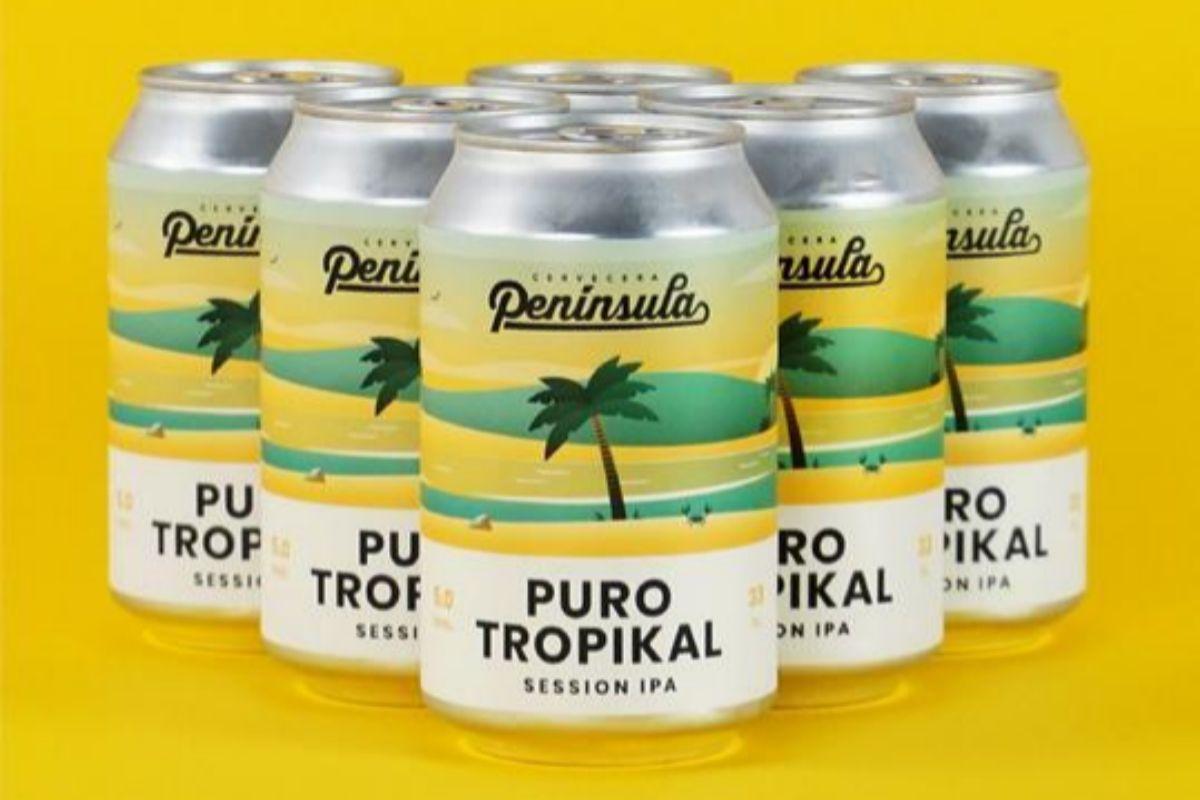 Puro Tropikal esla session ipa de Península.