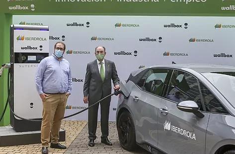 Enric Asunción, CEO de Wallbox, e Ignacio Galán, presidente de Iberdrola