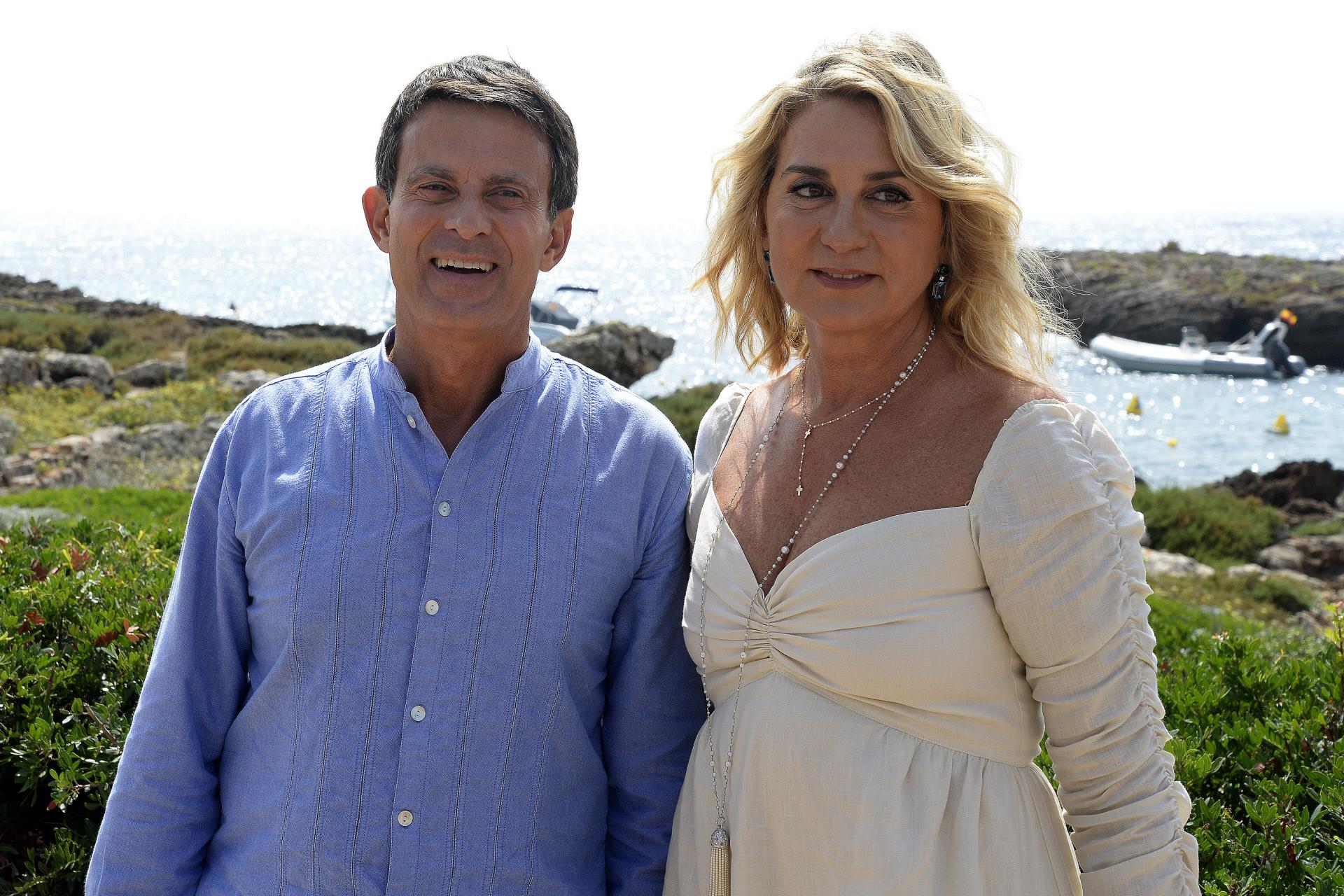 Manuel Valls y Susana Gallardo en 2019 en Menorca.