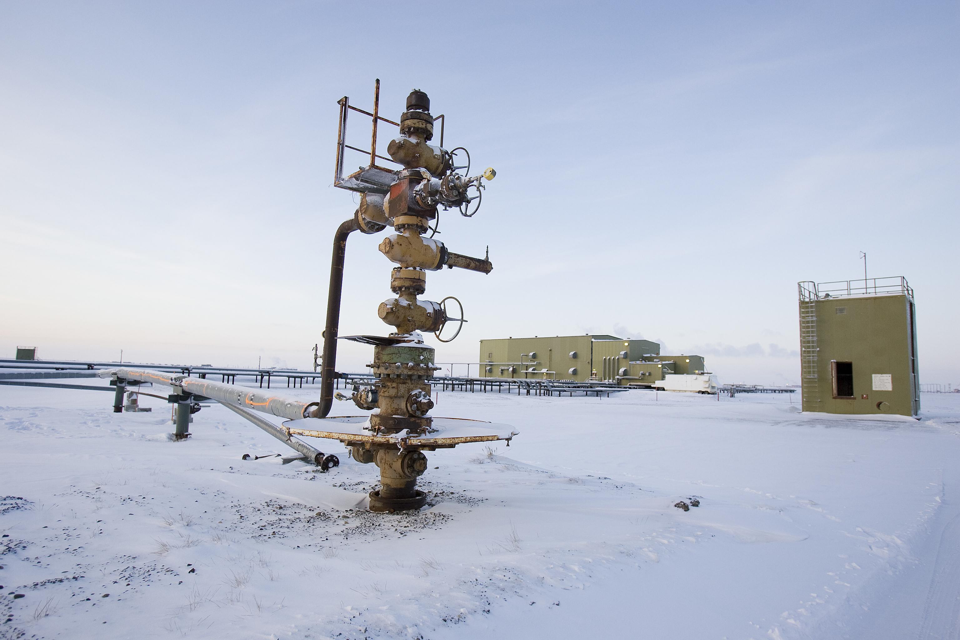 Extracción de petróleo en Prudhoe Bay, en los alrededores del Refugio de la Vida Salvaje de Alaska