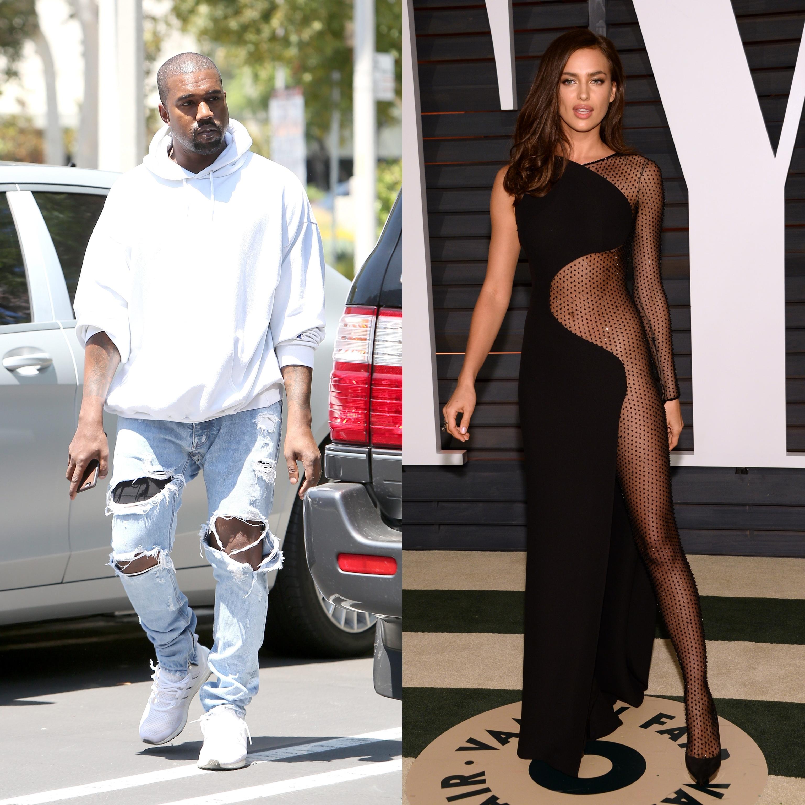 El rapero Kanye West y la modelo Irina Shayk.