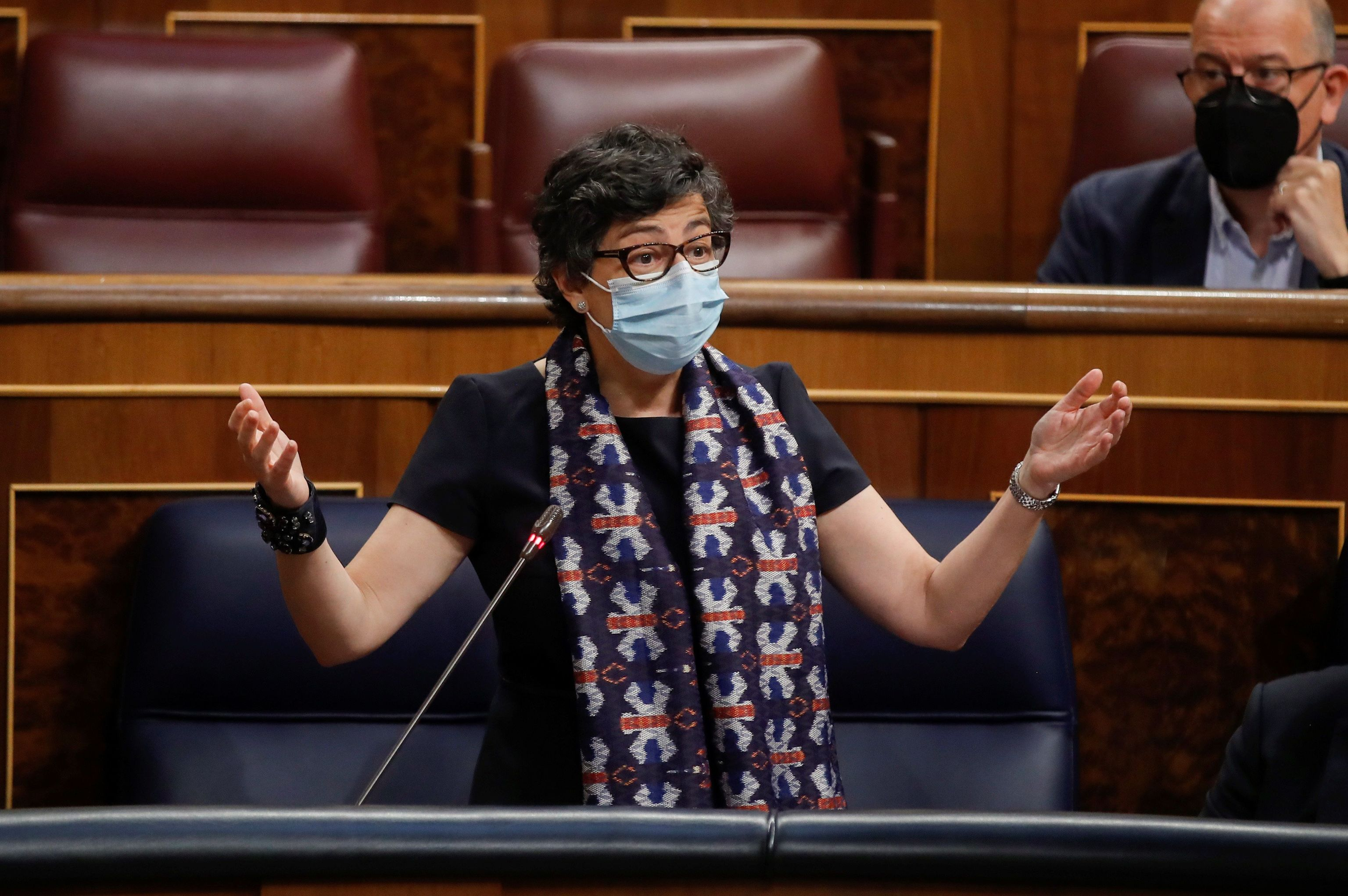 La ministra Arancha González Laya, este miércoles en el Congreso. EFE
