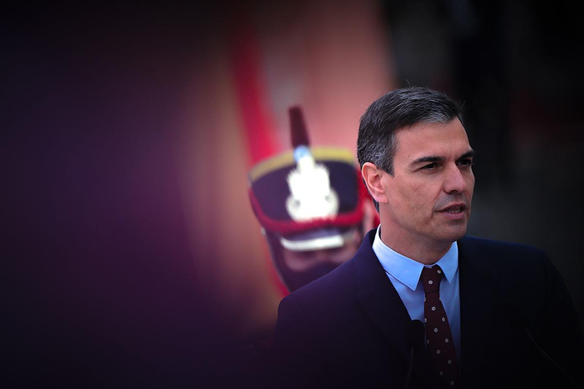 Pedro Sánchez, este miércoles, durante su visita oficial a Argentina.