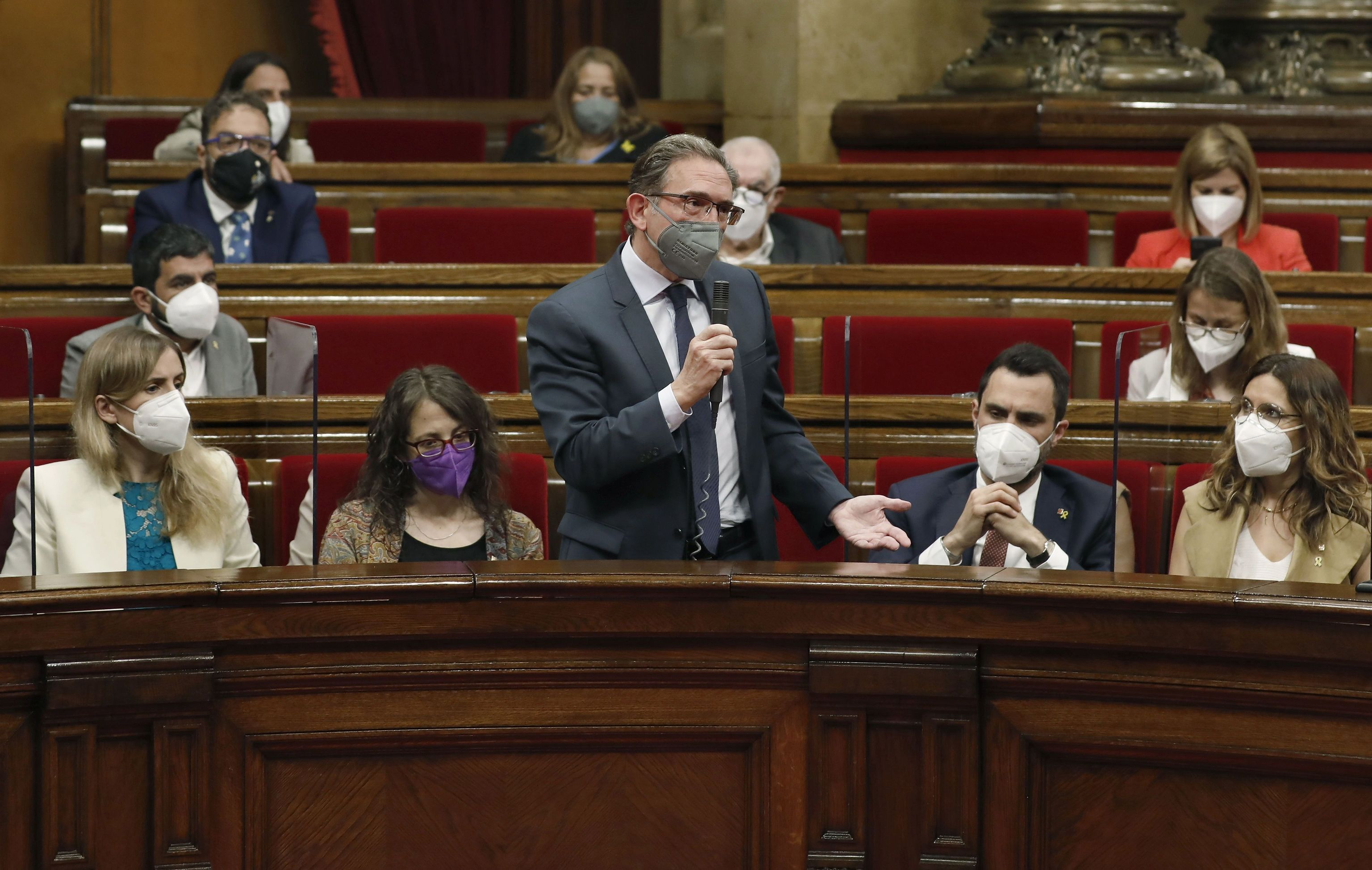 Jaume Giró, en el Parlament.