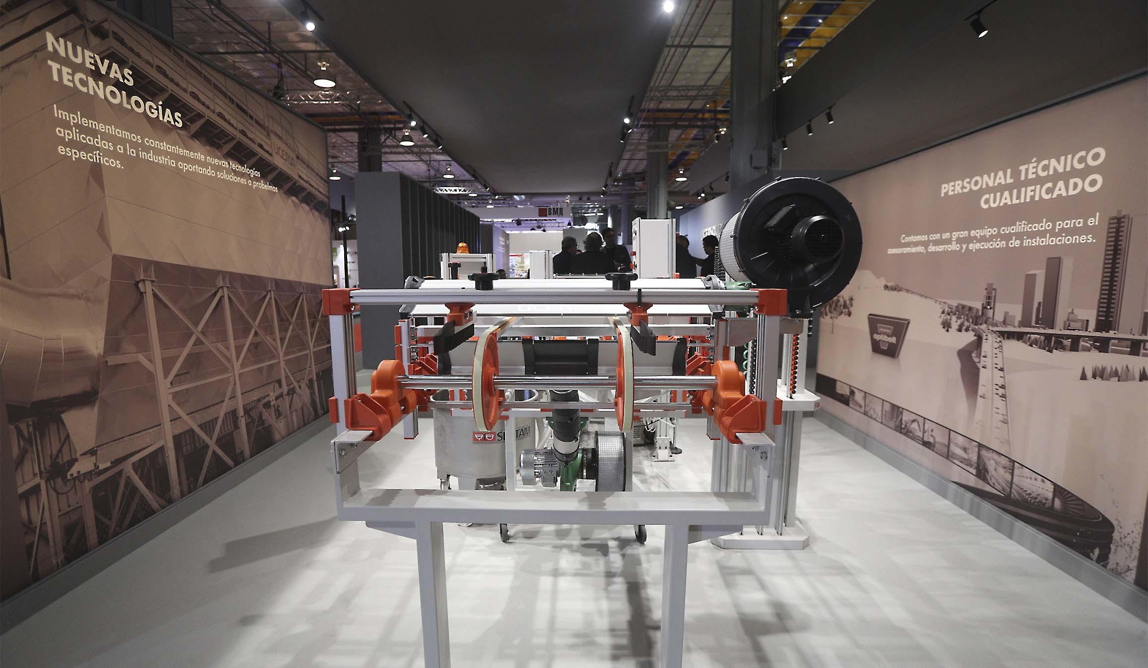 Pabellón de la maquinaria cerámica en la última edición de Cevisama celebrada en 2020.