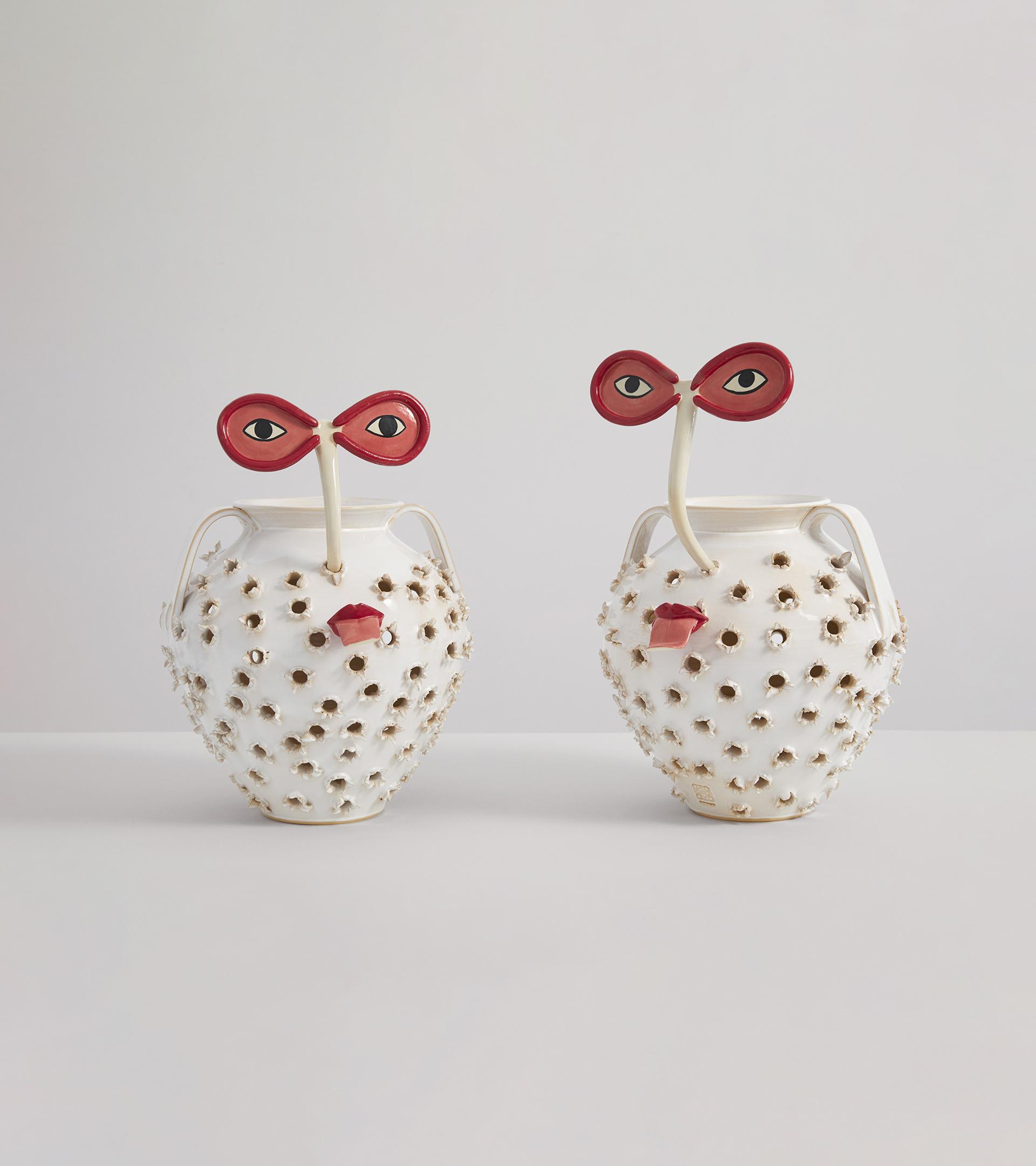 Los asadores de castañas elaborados por Laia Arqueros para la serie 'Loewe Weaves'.