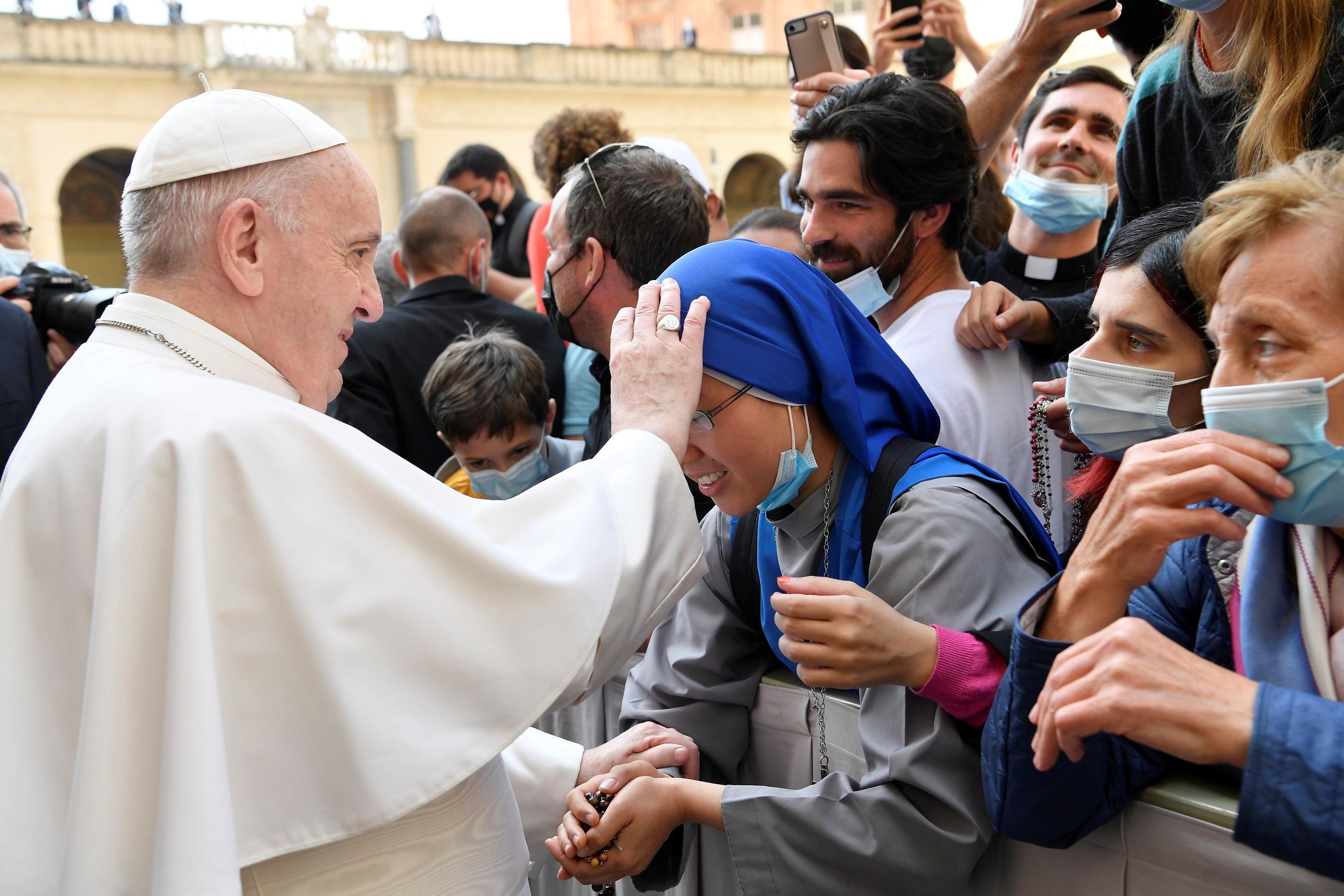 El Papa Francisco durante una audiencia con los fieles en el Vaticano.