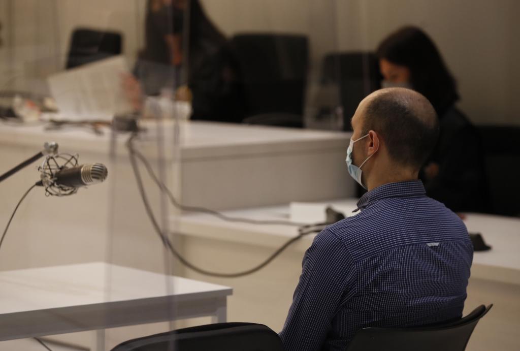 David Urdín, durante el juicio en la Audiencia Nacional.