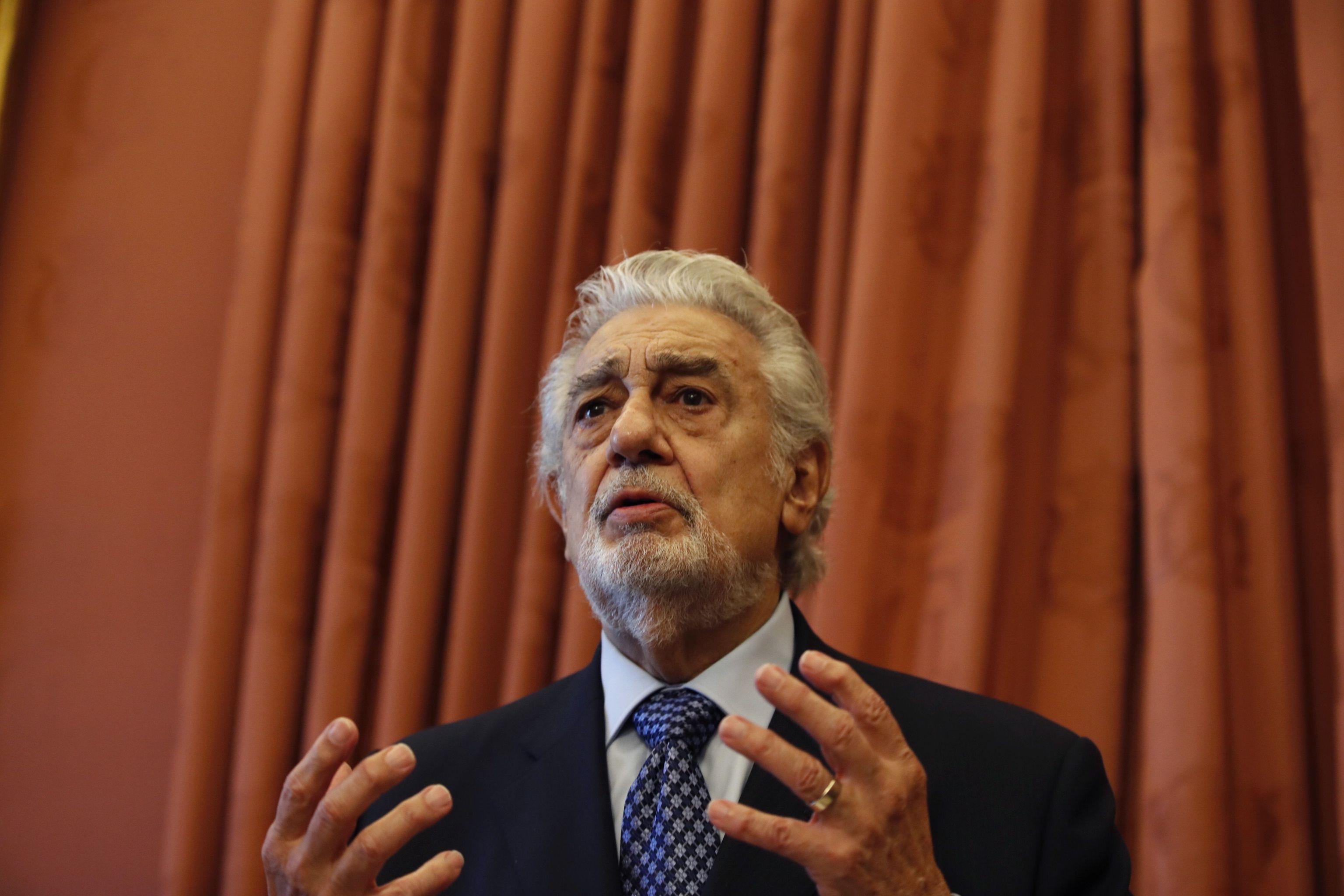 Plácido Domingo, este jueves en el Teatro Real de Madrid,