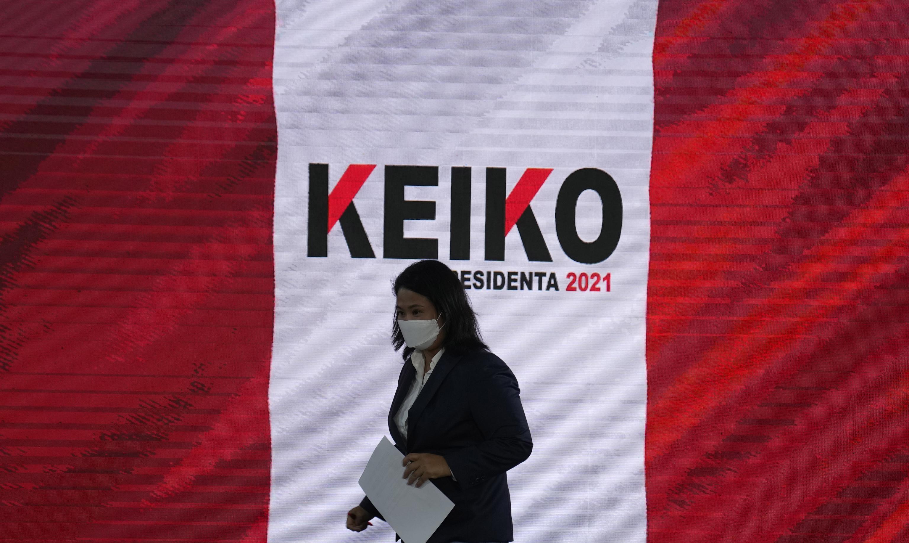 La candidata Keiko Fujimori, en Lima.