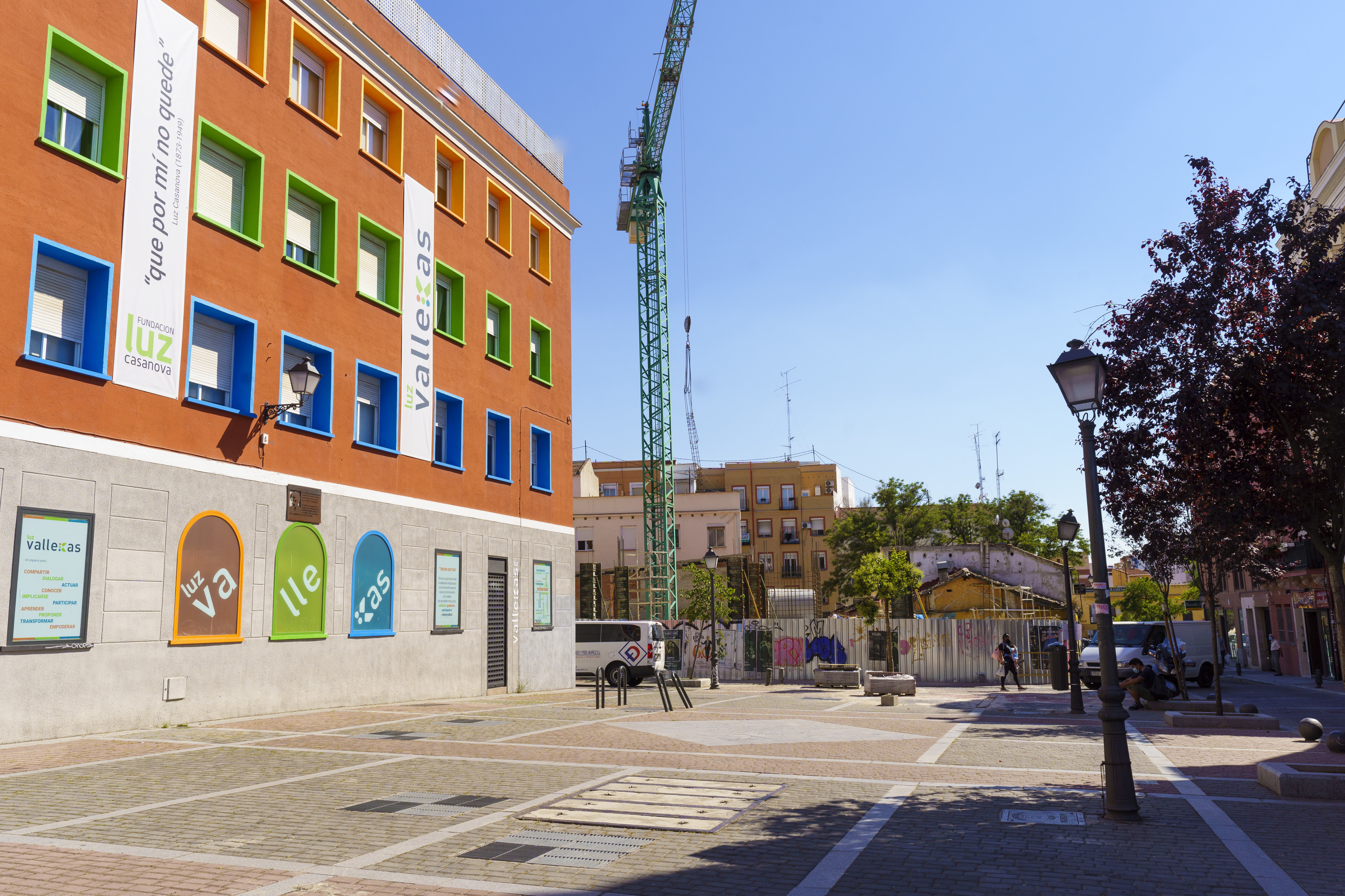 Promoción de viviendas en construcción en Puente de Vallecas.