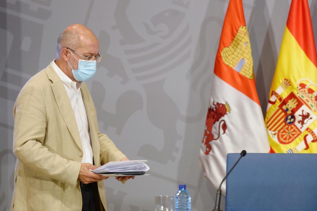 Francisco Igea, en su comparecencia de este jueves tras el Consejo de Gobierno