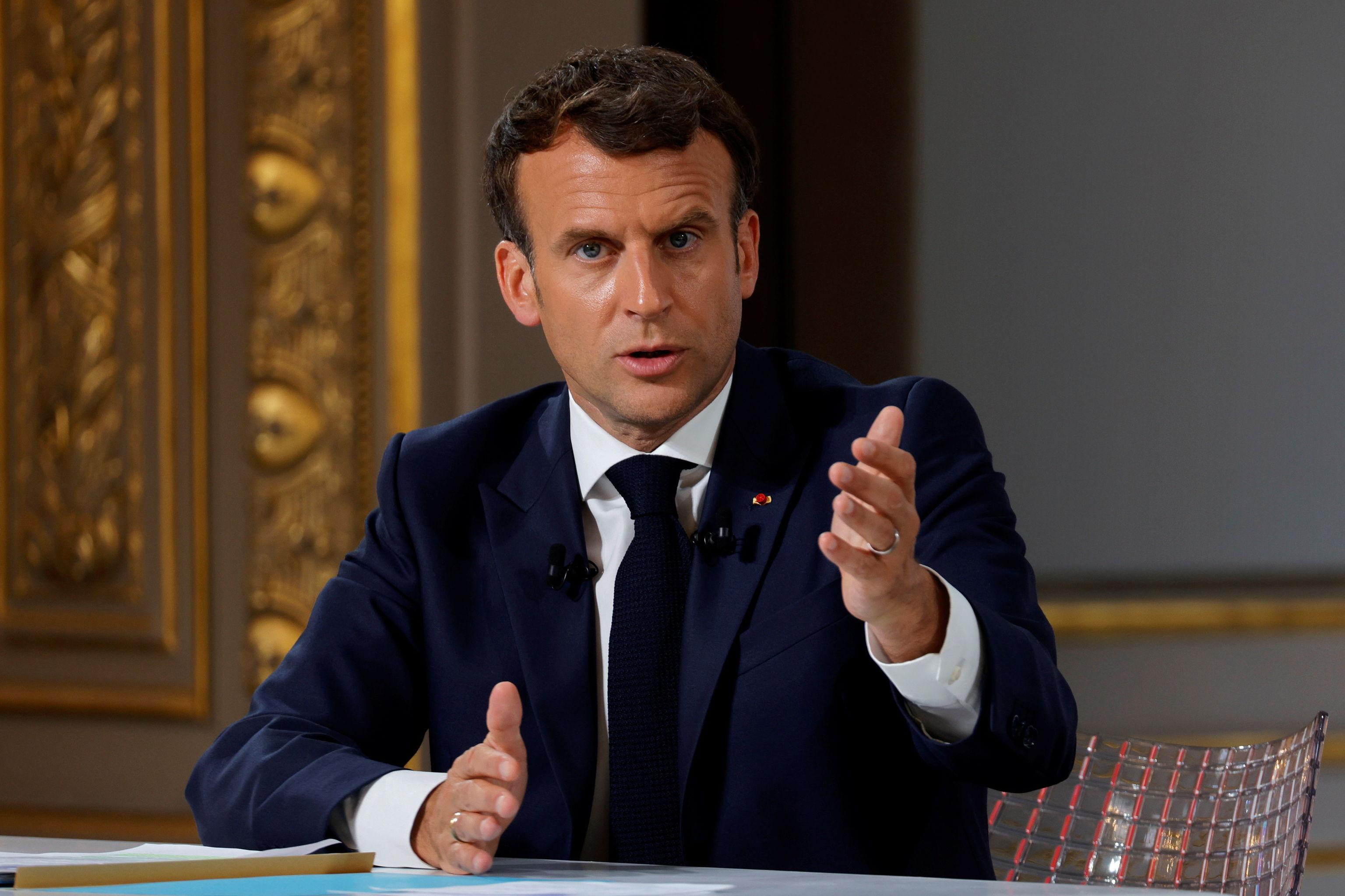 El presidente francés, Emmanuel Macron, hoy en el Elíseo.