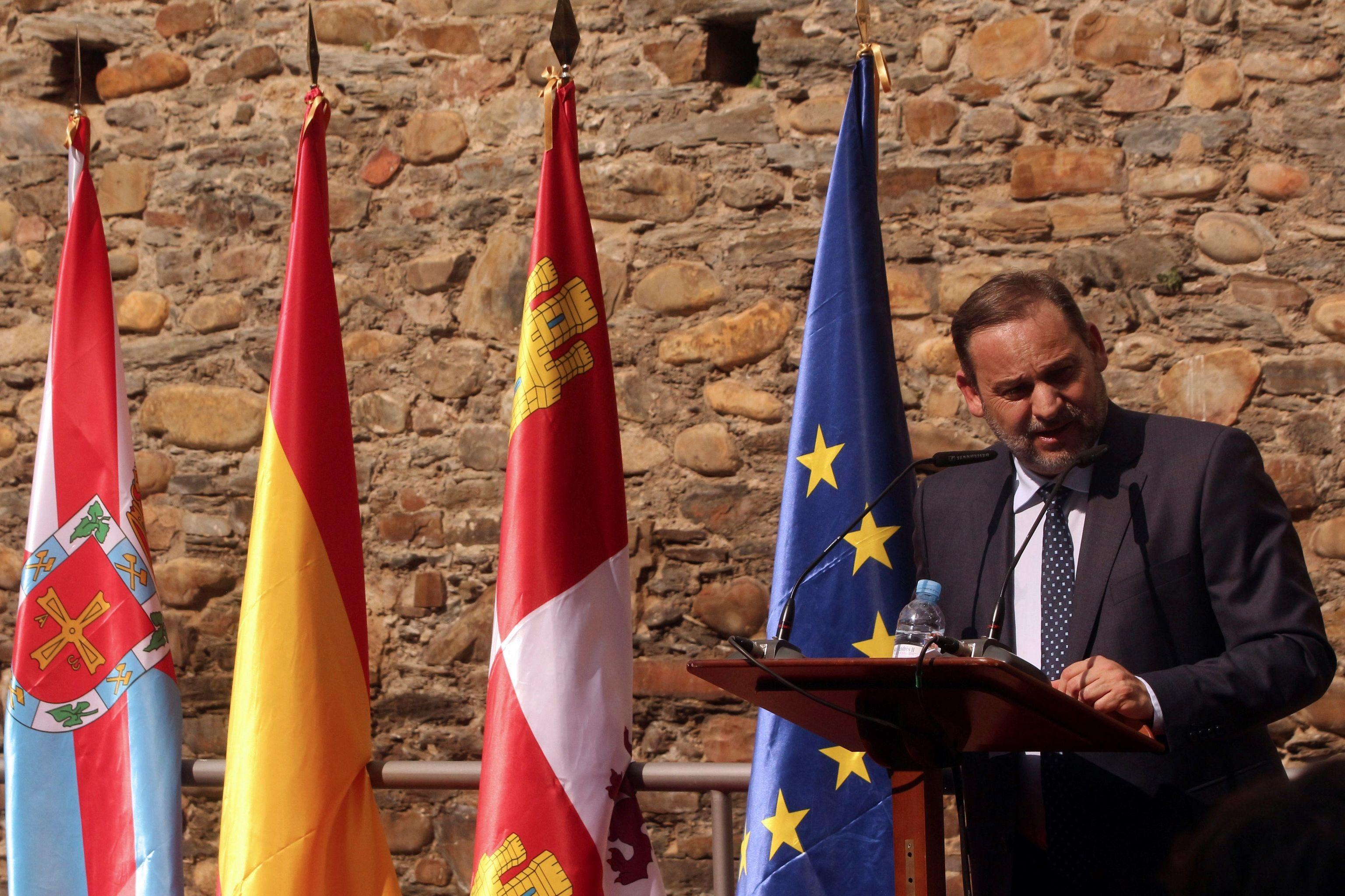 José Luis Ábalos, este jueves en Ponferrada.