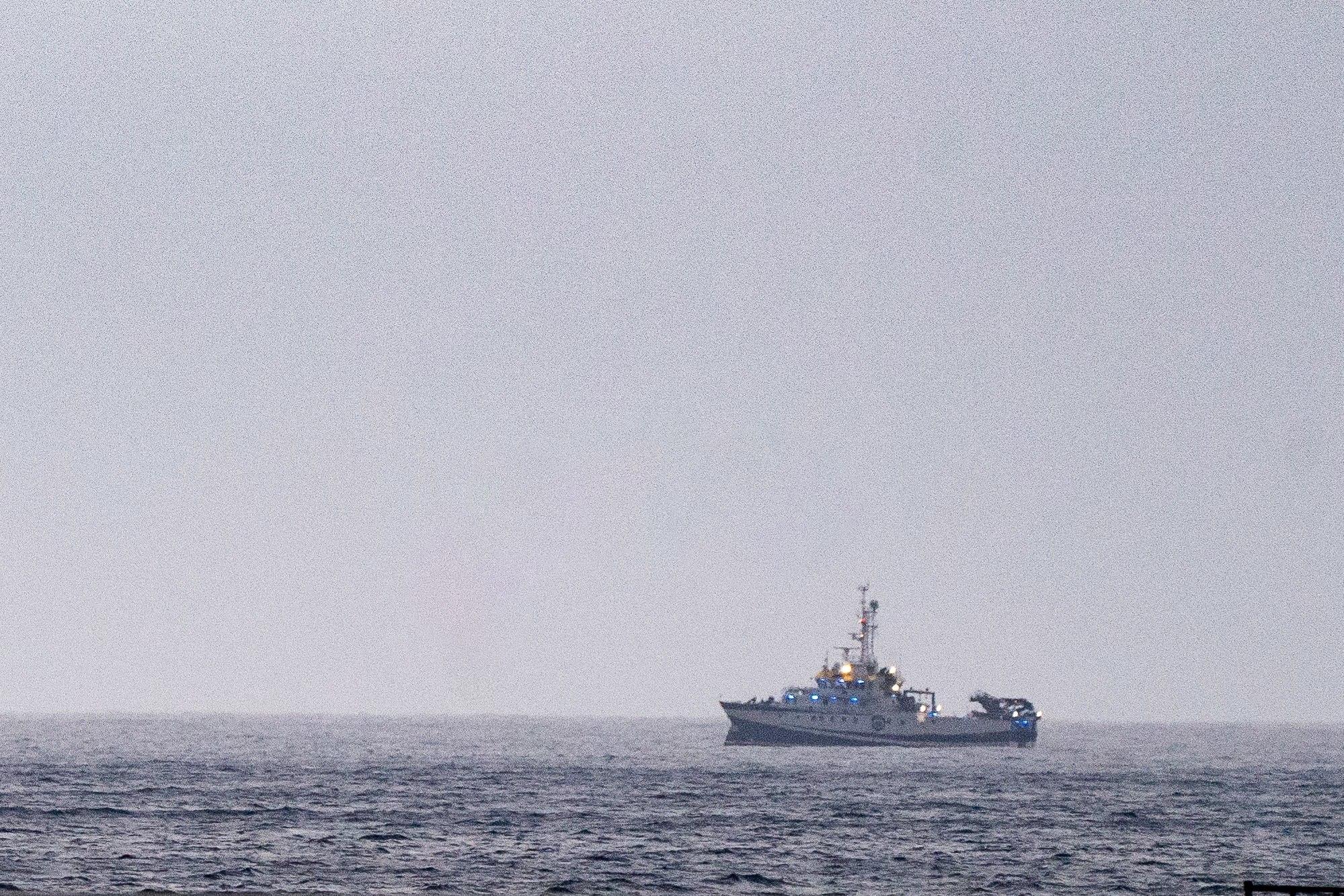 El buque 'Ángeles Alvariño', encargado de las labores de rastreo.