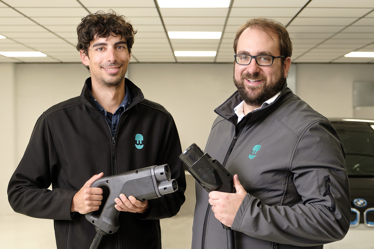 Eduard Castañeda (founder and CPO of Wallbox) and Enric Asunción (founder and CEO).