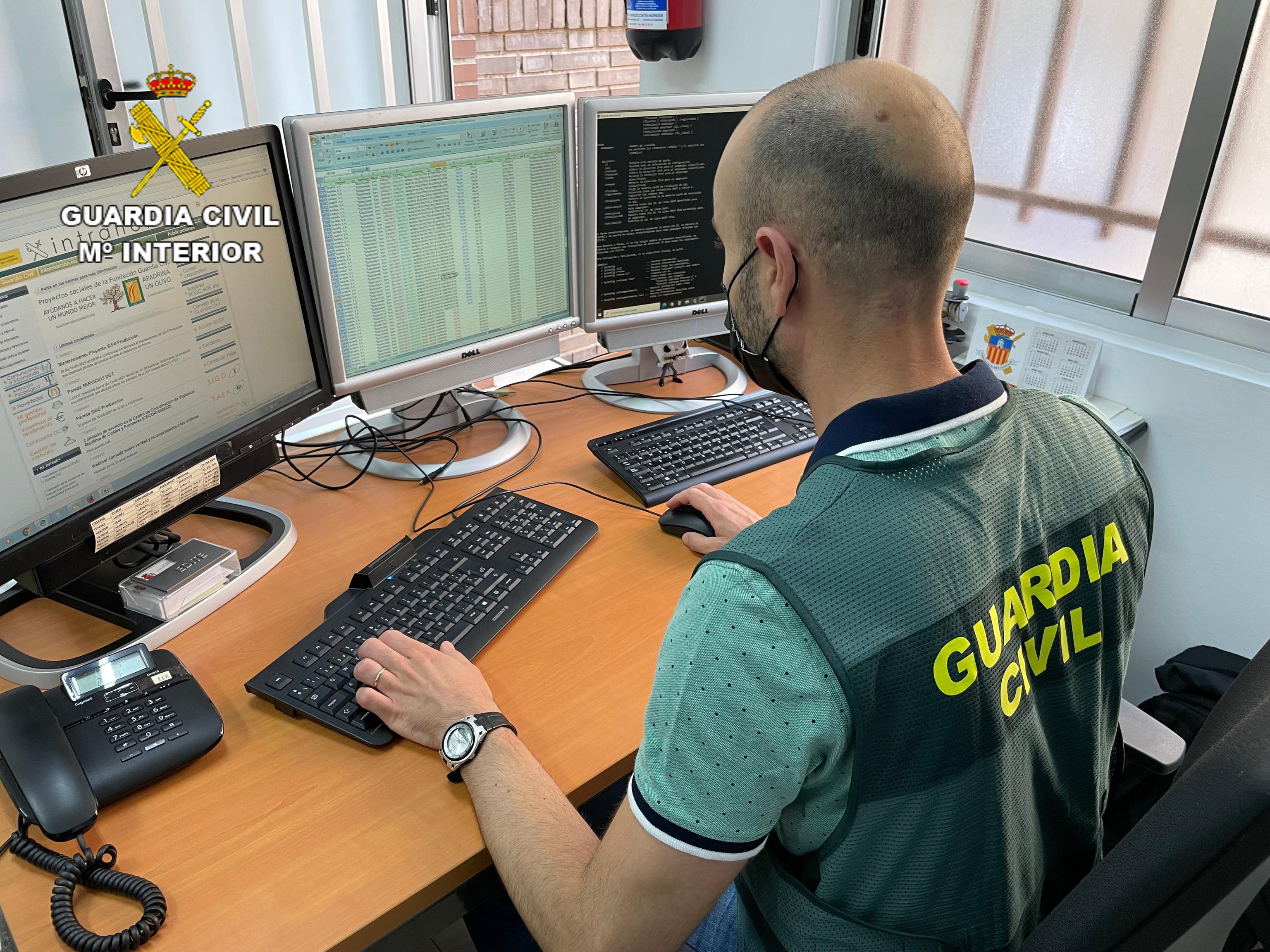 Unidad de delitos informáticos de la Guardia Civil.