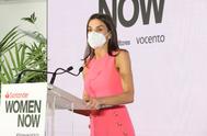 Doña Letizia, durante su intervención