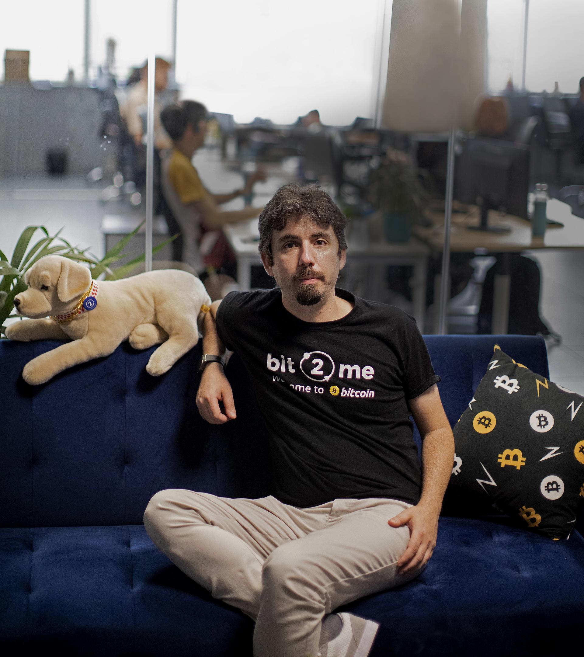 Leif Ferreira, CEO de Bit2Me, el criptobanquero español