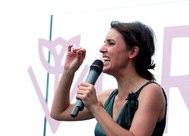 La ministra de Igualdad, Irene Montero, en un acto hoy de Podemos.