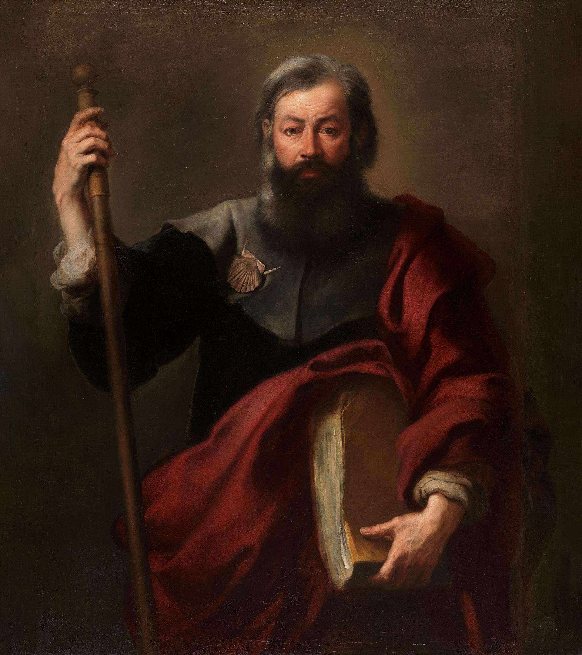 El apóstol Santiago, retratado por Murillo.