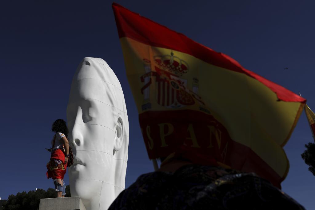 Concentracion en la plaza de Colón a favor de la unidad de España