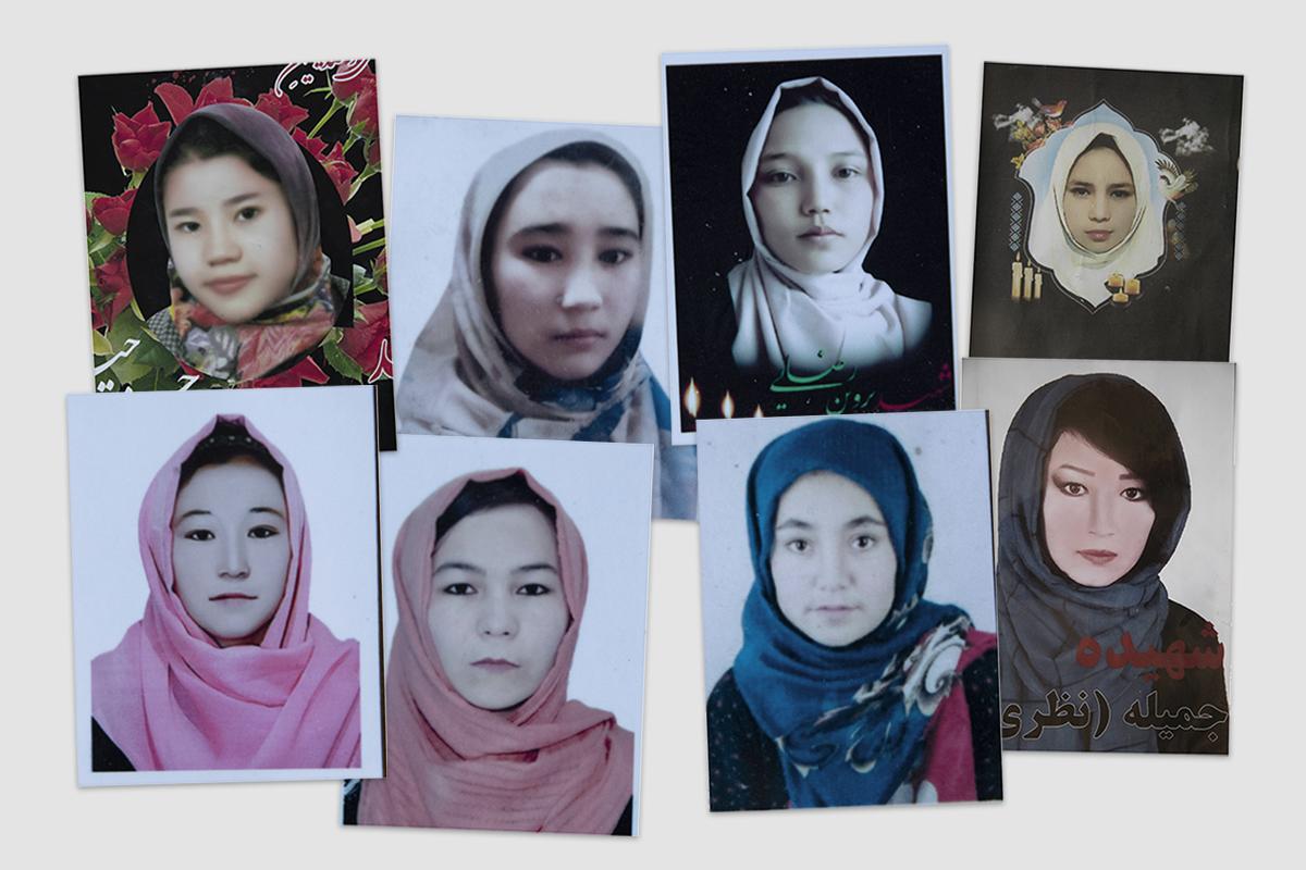 Niñas hazaras asesinadas por los insurgentes afganos.