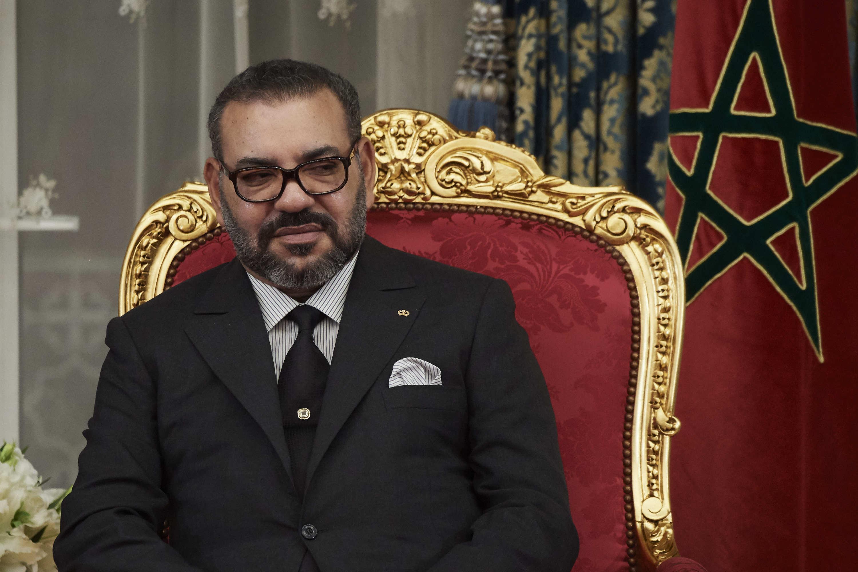 Mohammed VI, durante una recepción en Casablanca en 2019.